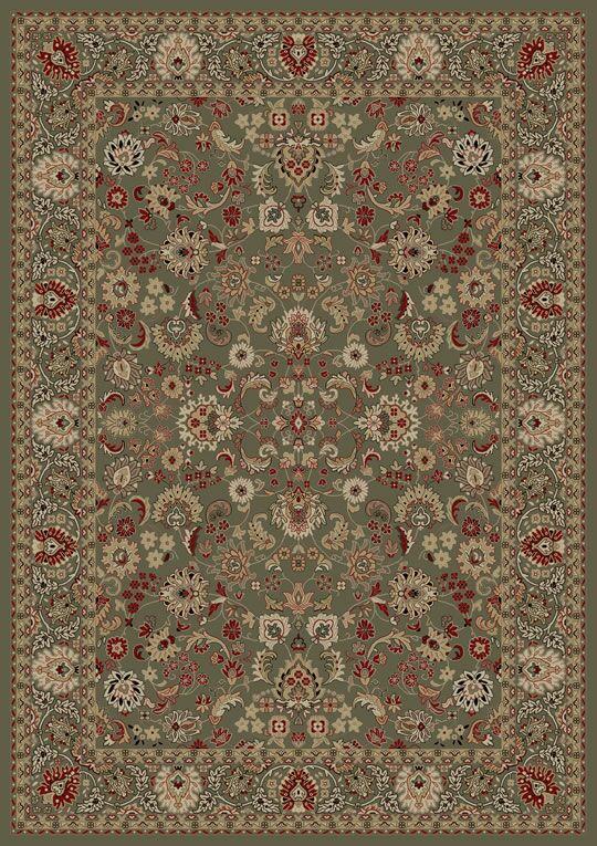 Persian Classics Oriental Mahal Green Area Rug Rug Size: Rectangle 9'3