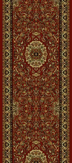 Persian Red Classics Oriental Isfahan Area Rug Rug Size: Runner 2' x 7'7