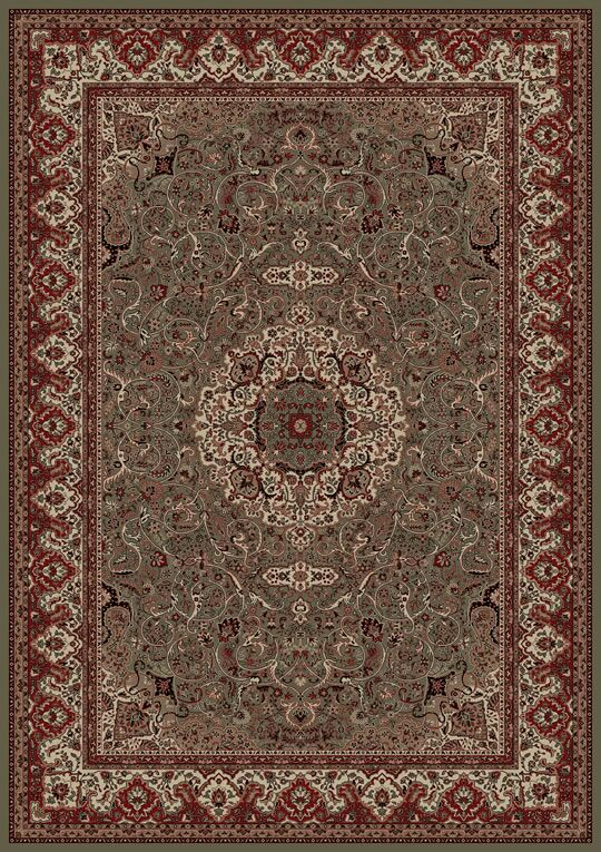 Persian Classics Green/Red Oriental Isfahan Area Rug Rug Size: Rectangle 10'11