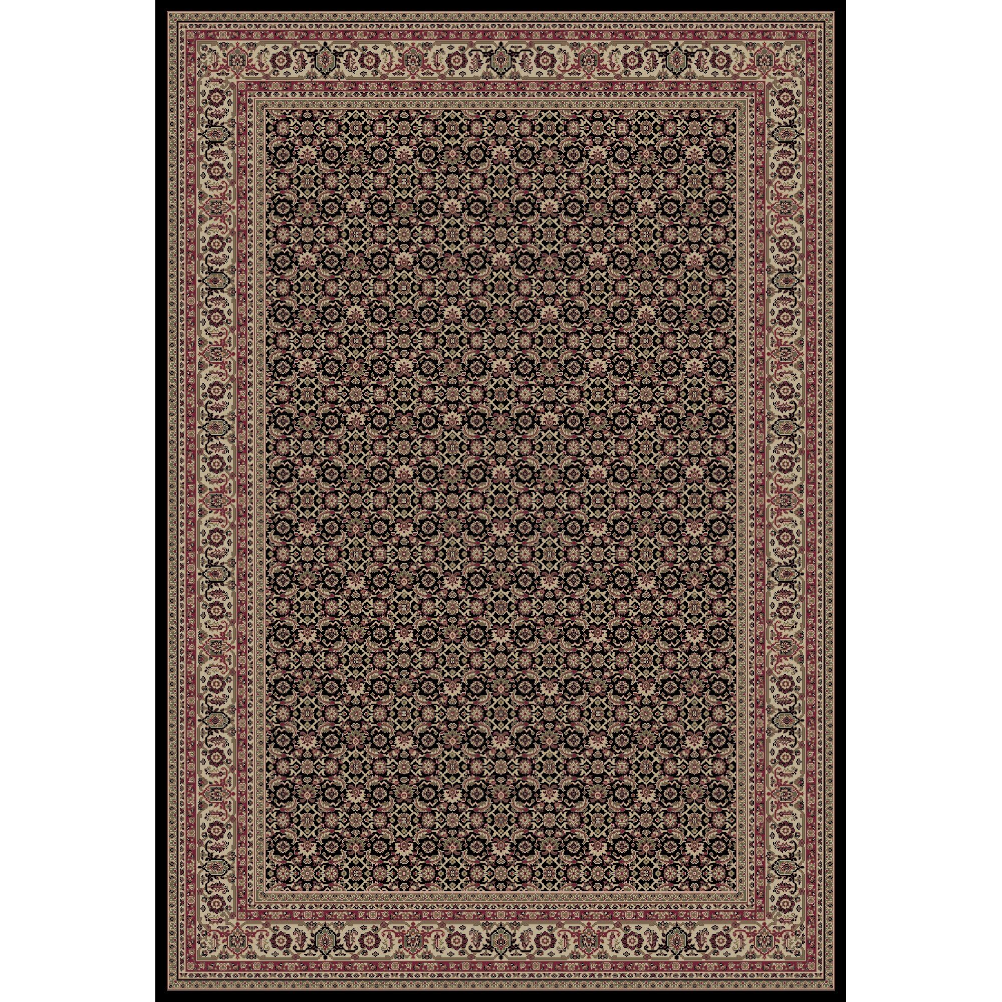 Persian Classics Oriental Herati Brown Area Rug Rug Size: 5'3