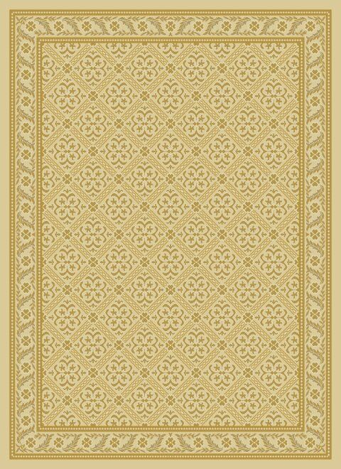 Damask Ivory Contemporary Rug Rug Size: Rectangle 6'7