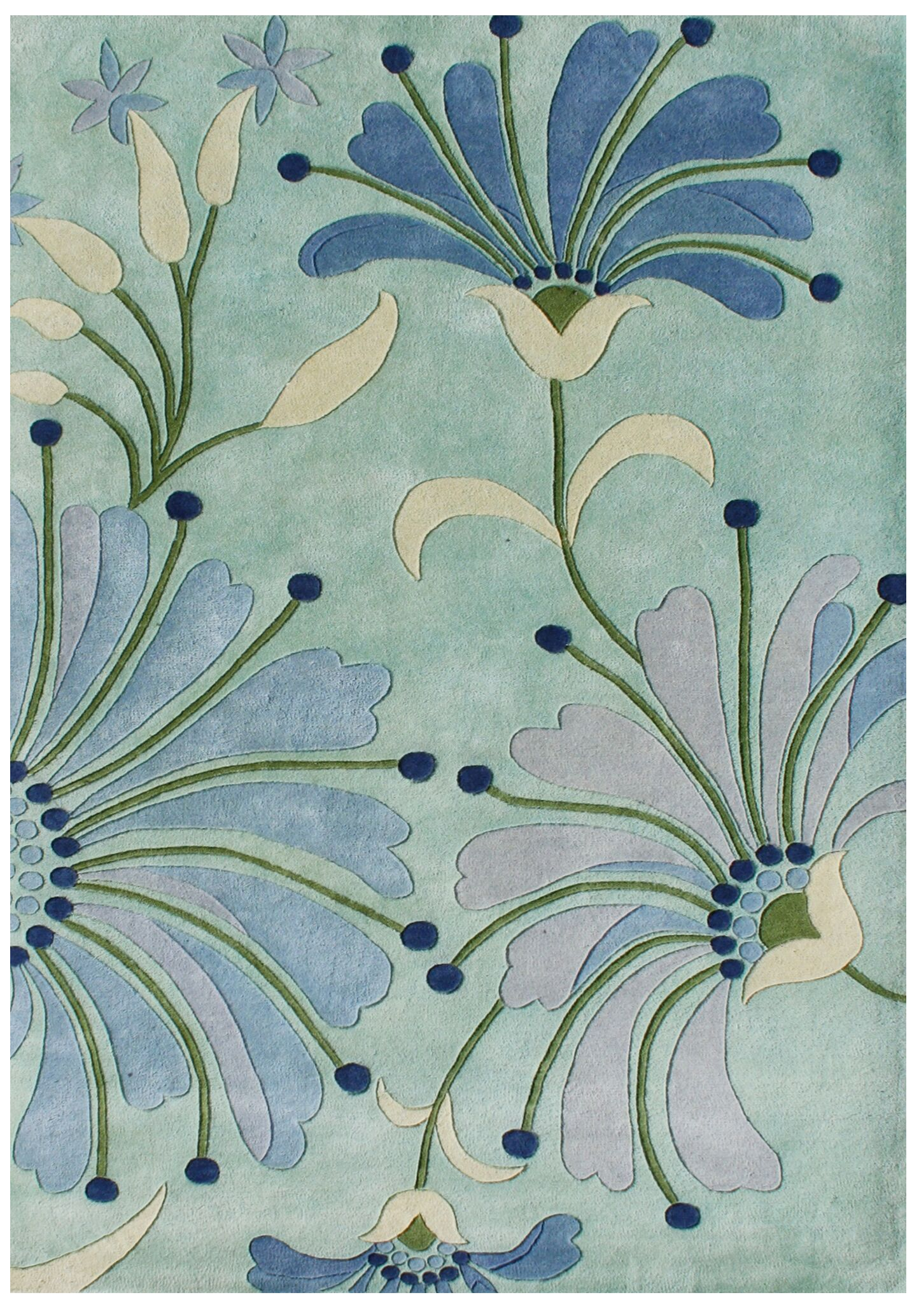 Giovanni Hand-Tufted Nile Blue Area Rug Rug Size: Rectangle 8' x 10'