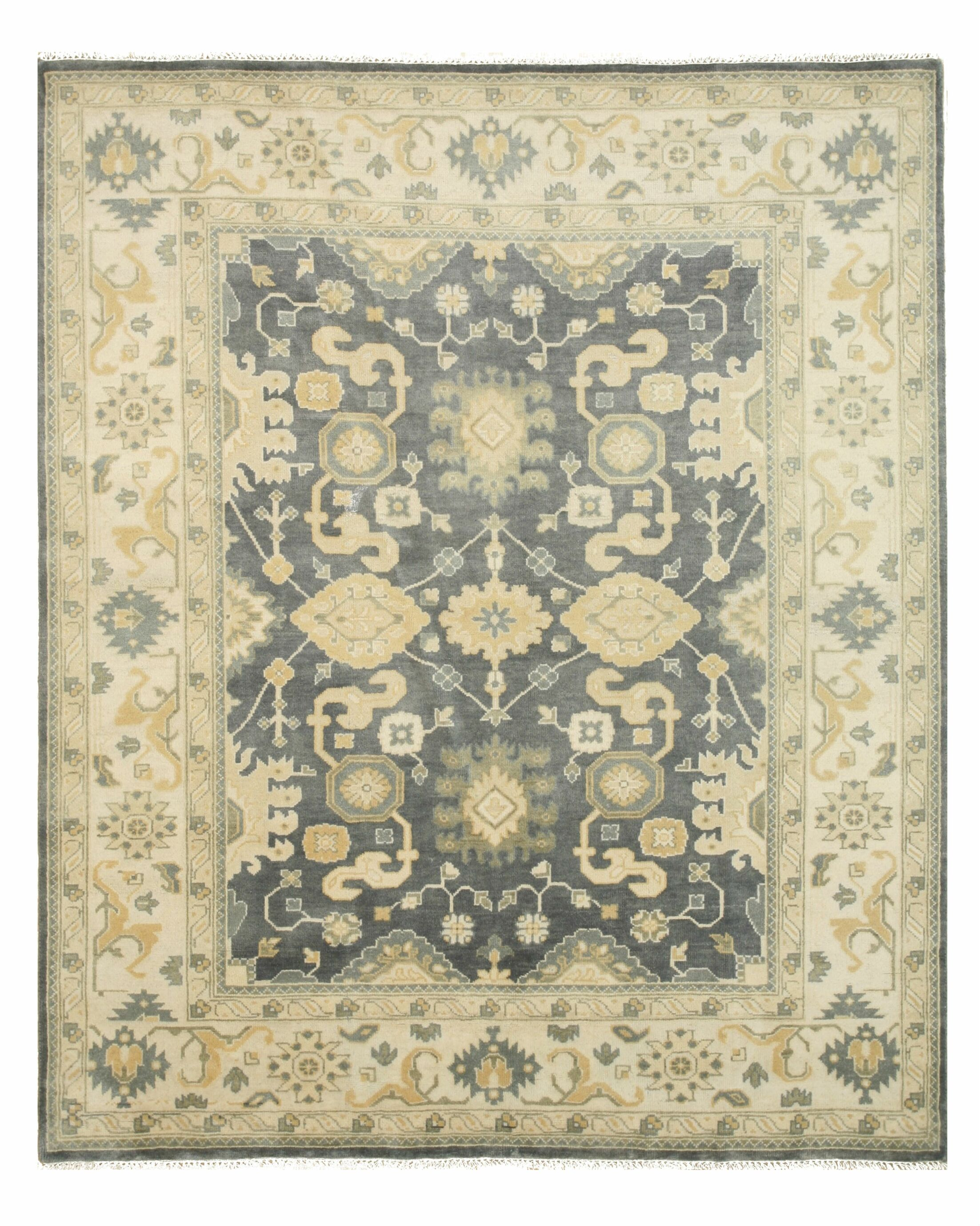 Ernestine Hand Knotted Area Rug Rug Size: 8' x 10'