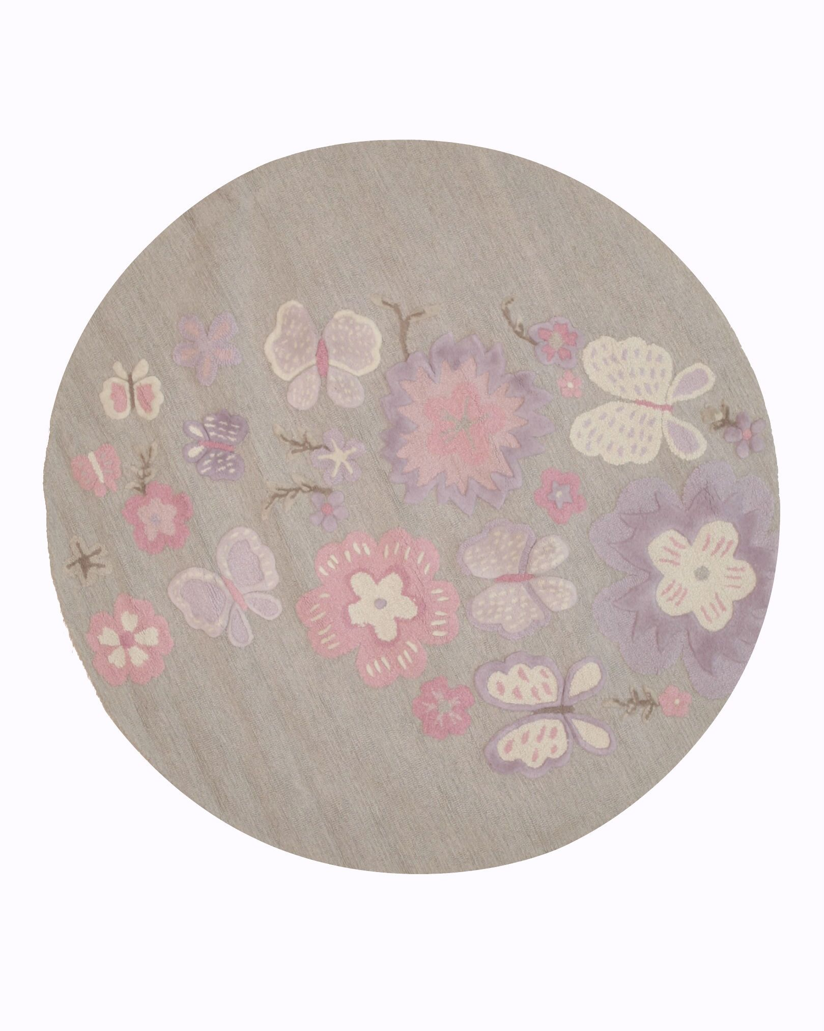 GretchenHand Tufted Gray Area Rug Rug Size: Round 4'