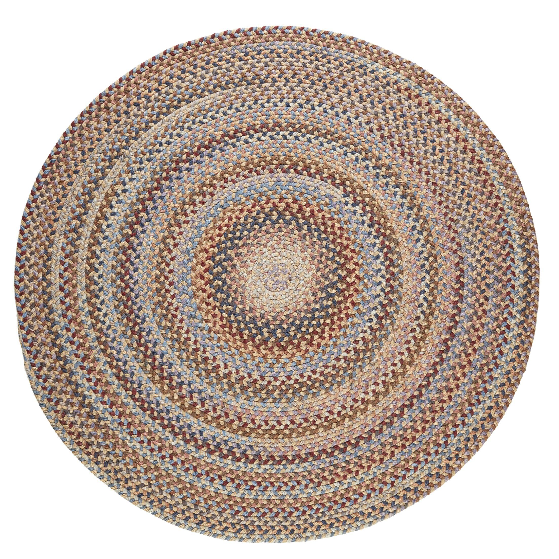 Handmade Orange Area Rug Rug Size: Round 4'
