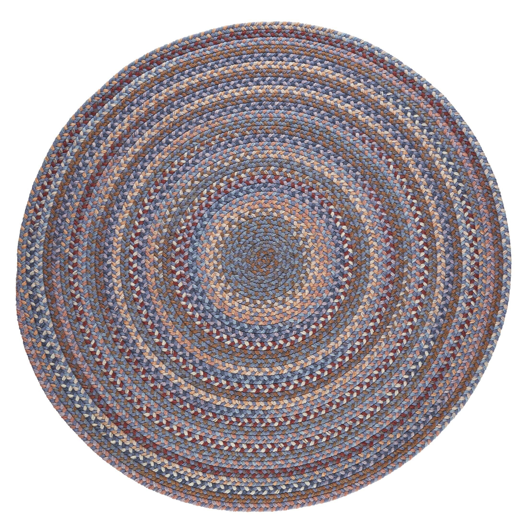 Handmade Blue Area Rug Rug Size: Round 10'