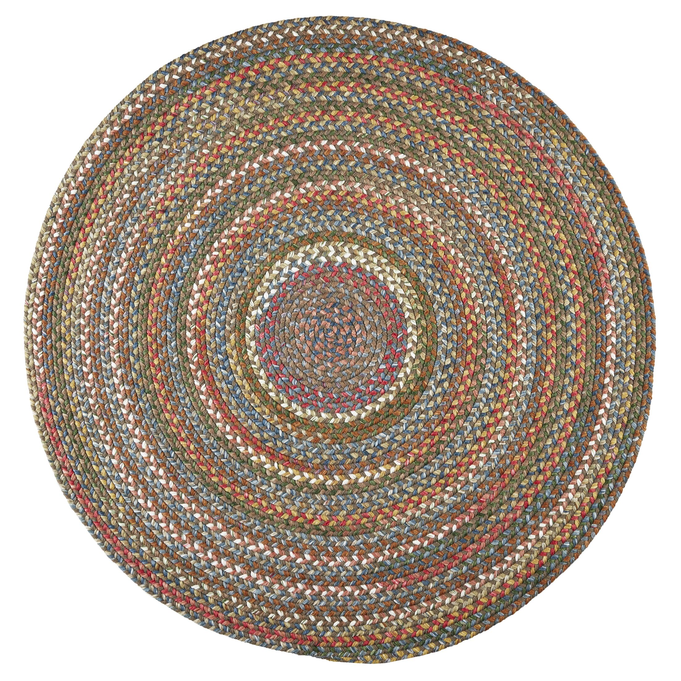 Handmade Bronze Indoor/Outdoor Area Rug Rug Size: Round 10'