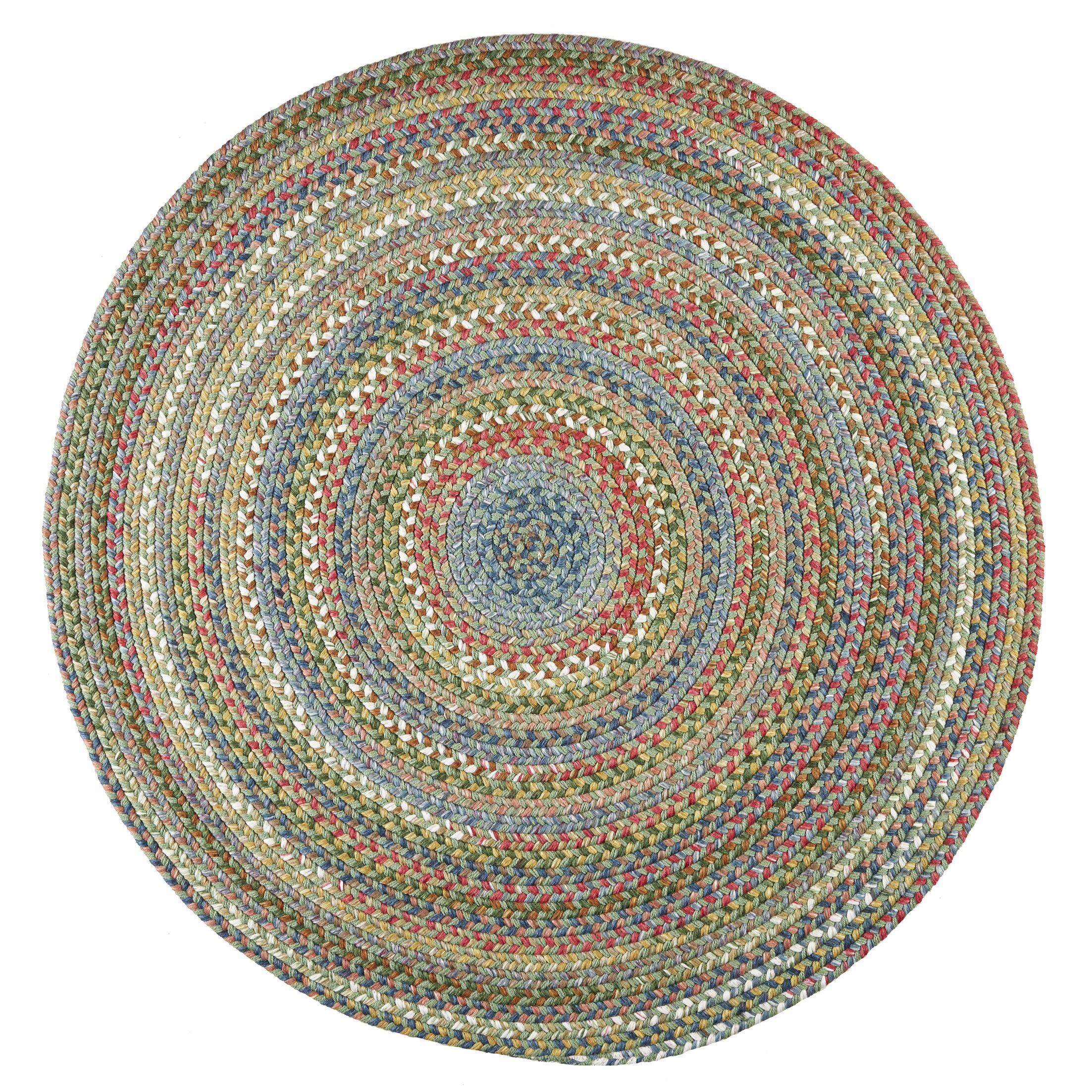 Handmade Peridot Indoor/Outdoor Area Rug Rug Size: Round 10'