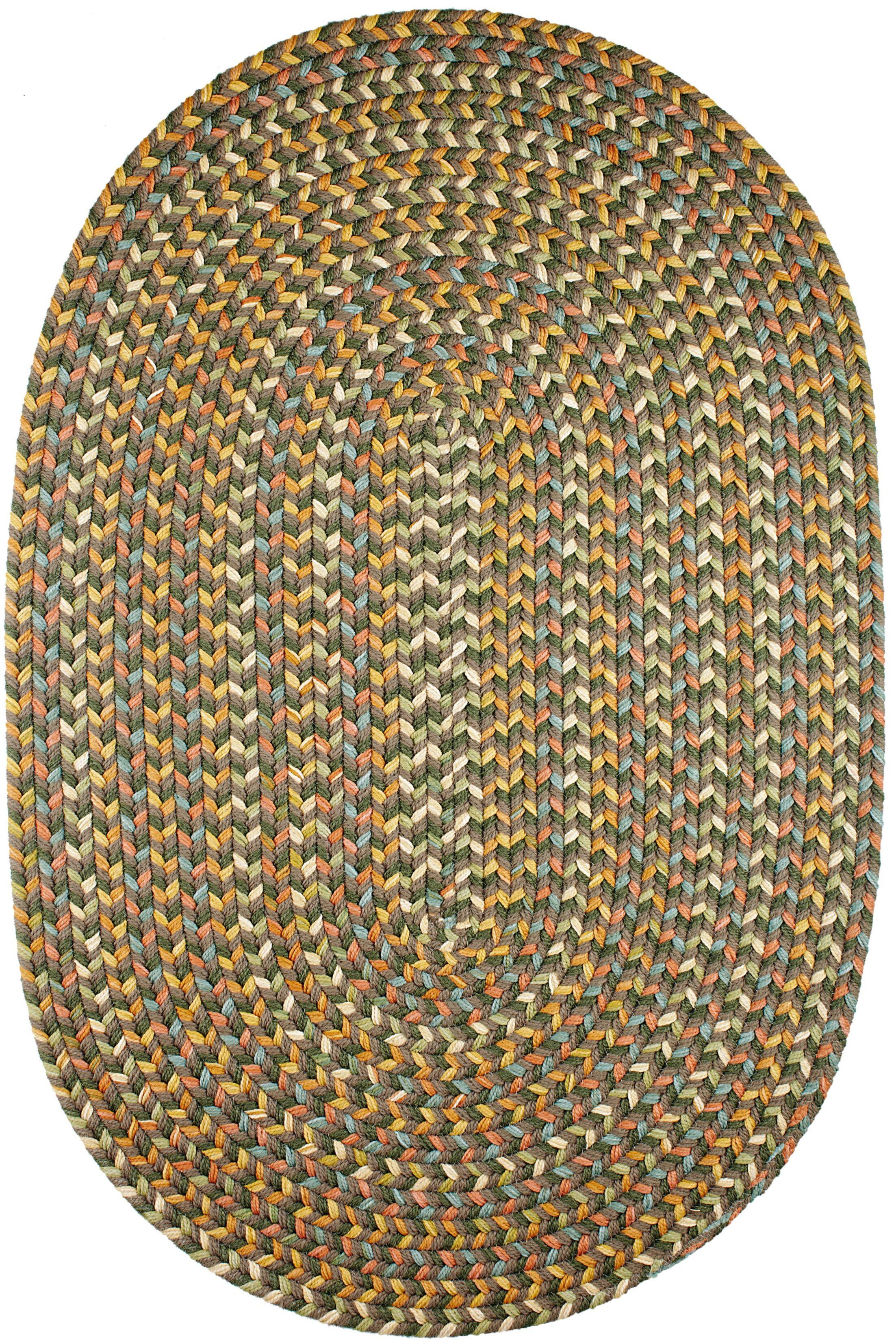 Handmade Dark Taupe Indoor/Outdoor Area Rug Rug Size: Oval 7' x 9'