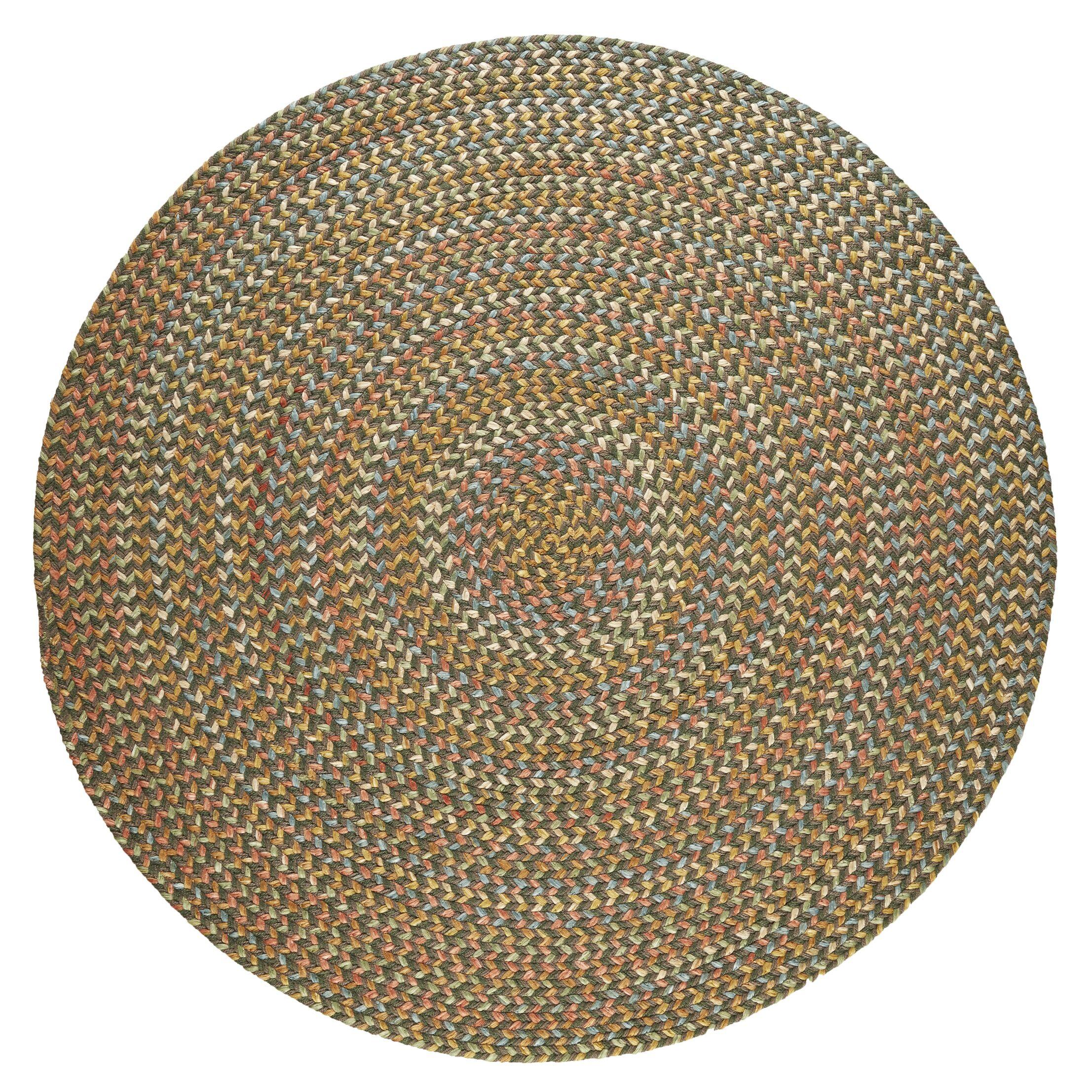 Handmade Dark Taupe Indoor/Outdoor Area Rug Rug Size: Round 8'