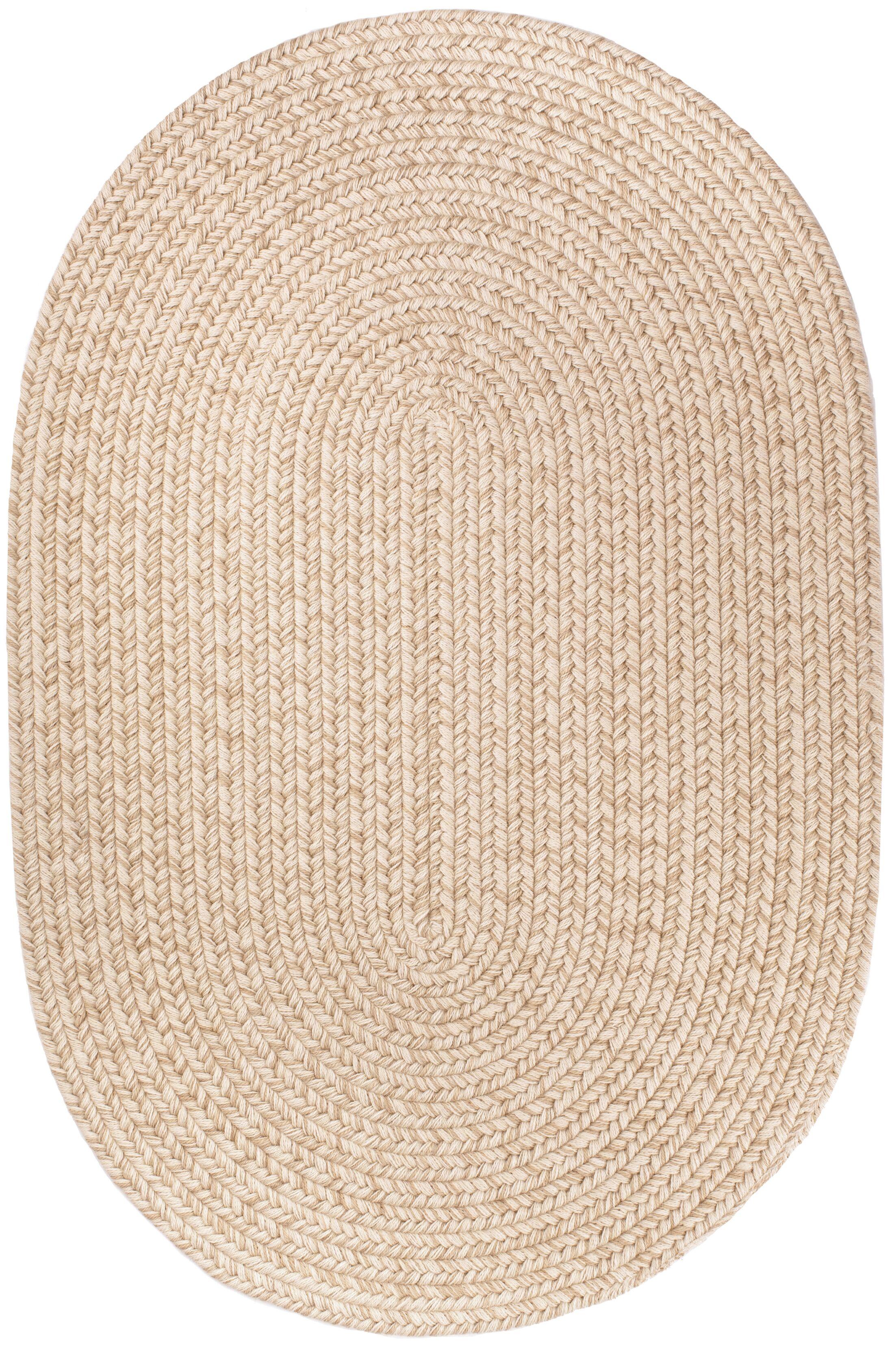 Handmade Sand Area Rug Rug Size: Oval  7' x 9'