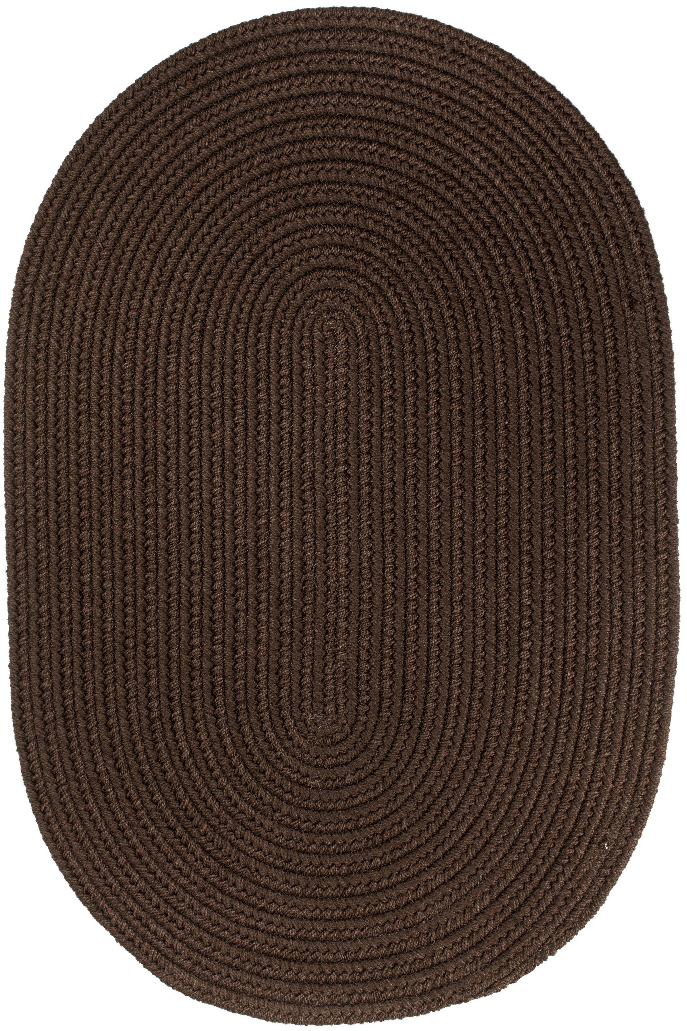 Handmade Brown Indoor/Outdoor Area Rug Rug Size: Oval 5' x 8'