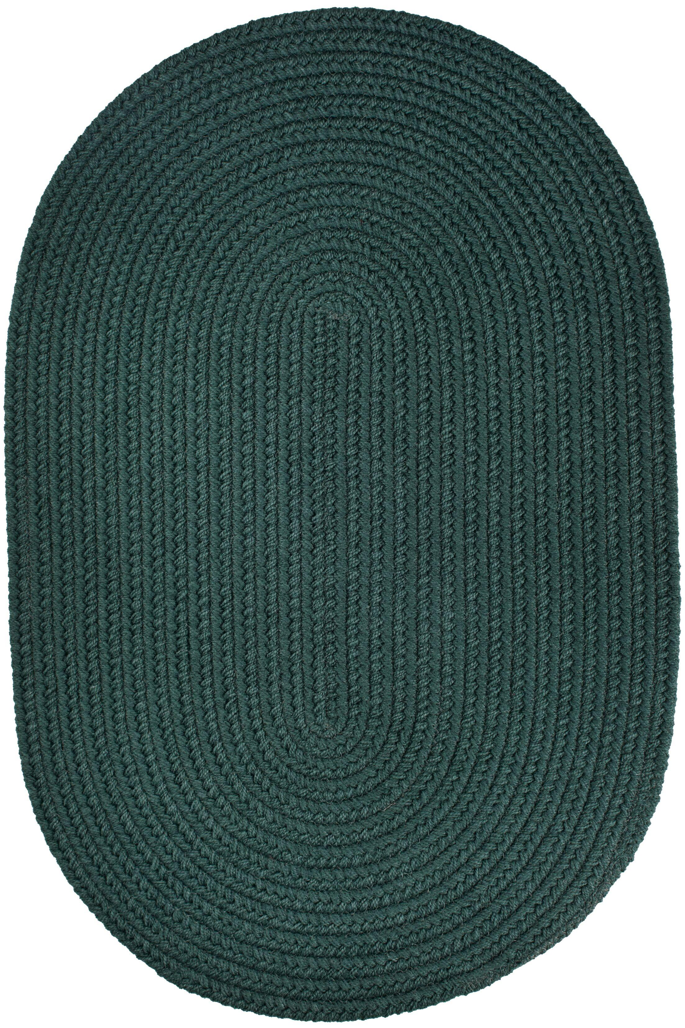 Handmade Spruce Green Indoor/Outdoor Area Rug Rug Size: Oval 7' x 9'