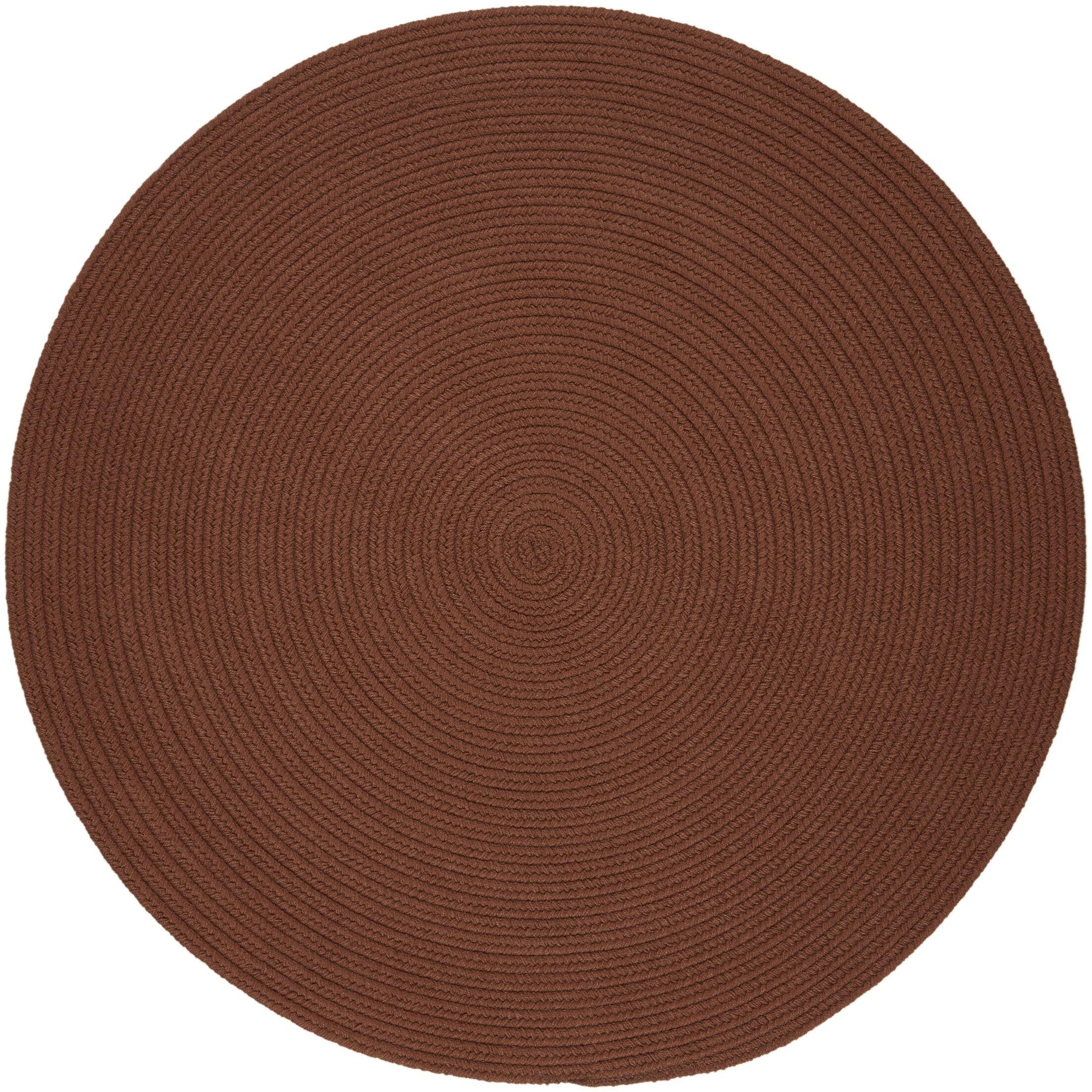Handmade Almond Indoor/Outdoor Area Rug Rug Size: Round 4'