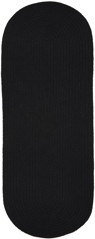 Handmade Black Area Rug Rug Size: Runner 2' x 6'