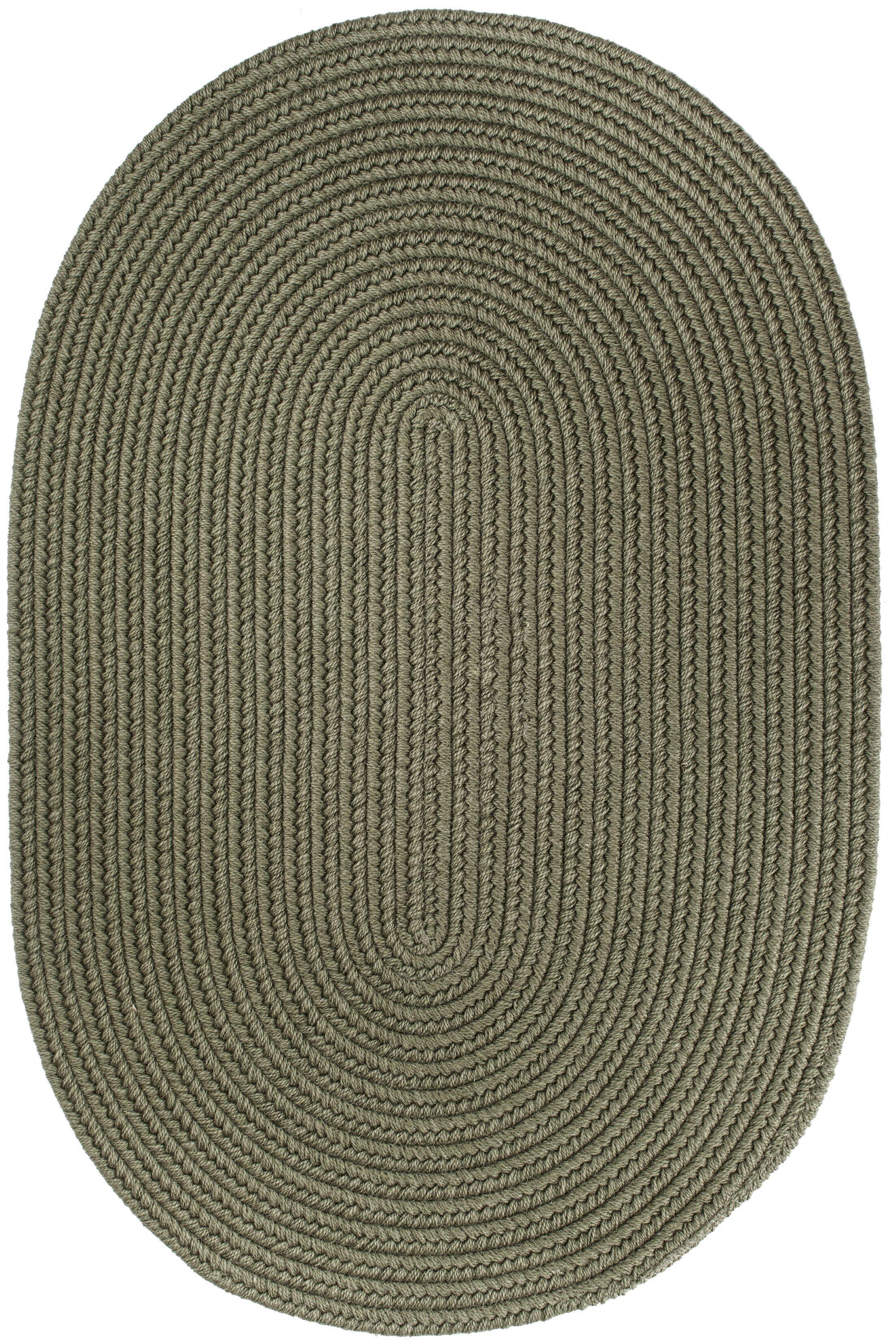 Handmade Moss Green Area Rug Rug Size: Oval 10' x 13'