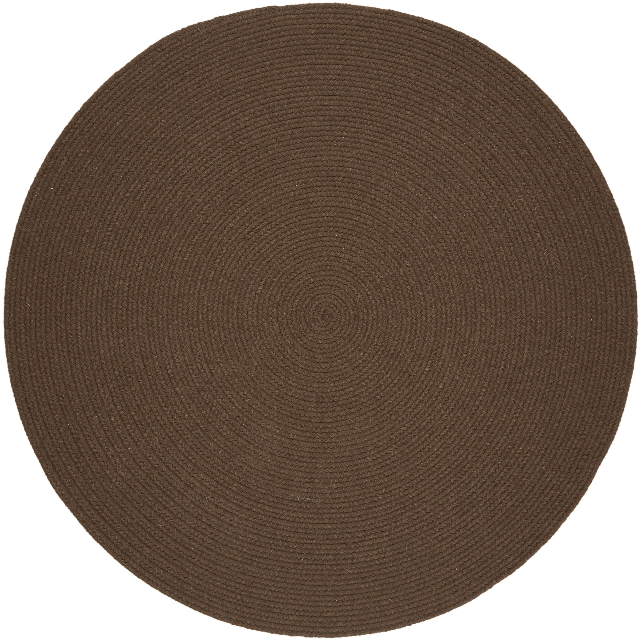 Handmade Brown Area Rug Rug Size: Round 10'