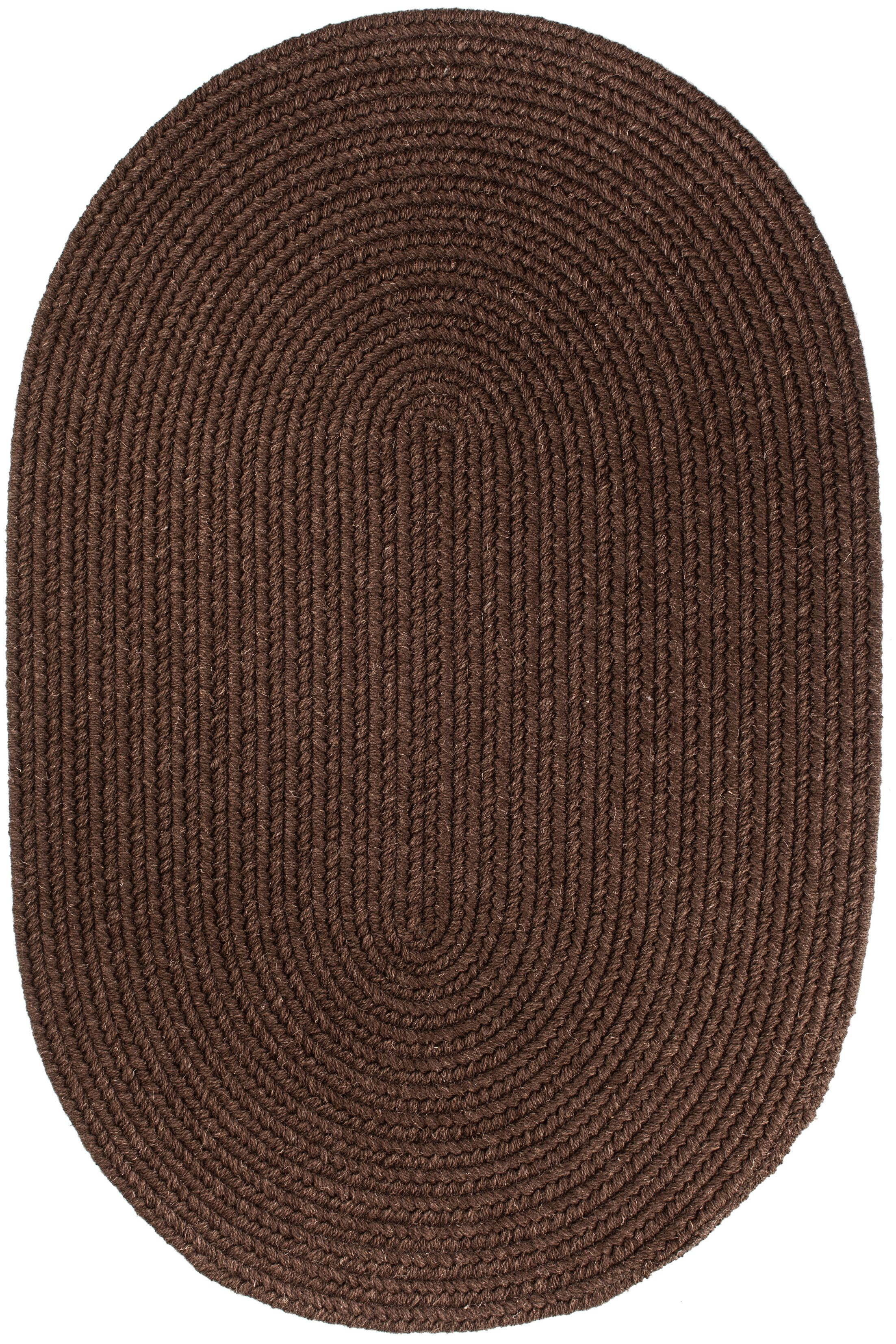 Handmade Brown Area Rug Rug Size: Oval  10' x 13'