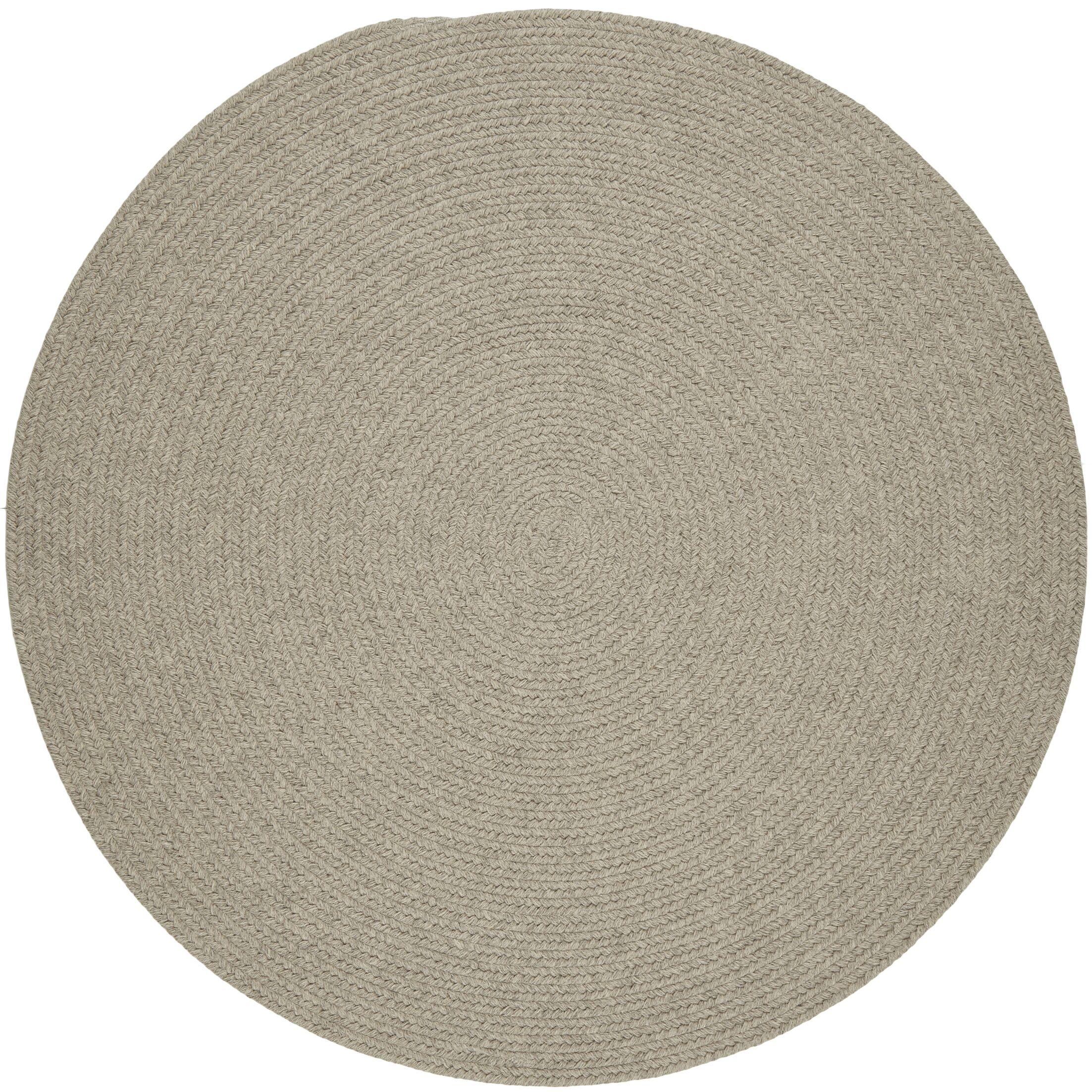Handmade Light Gray Area Rug Rug Size: Round 10'