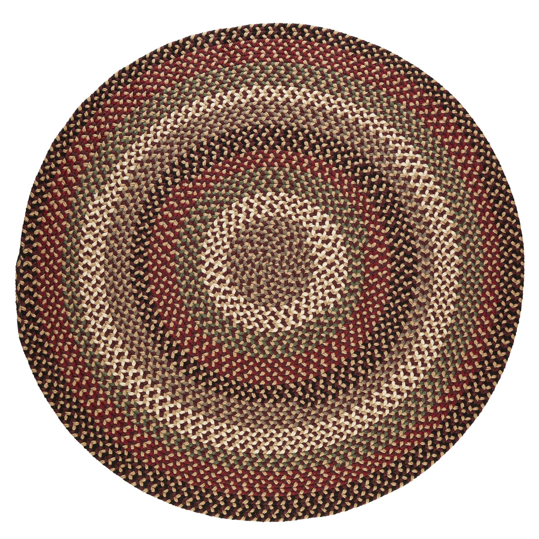 Handmade Brown Indoor/Outdoor Area Rug Rug Size: Round 6'