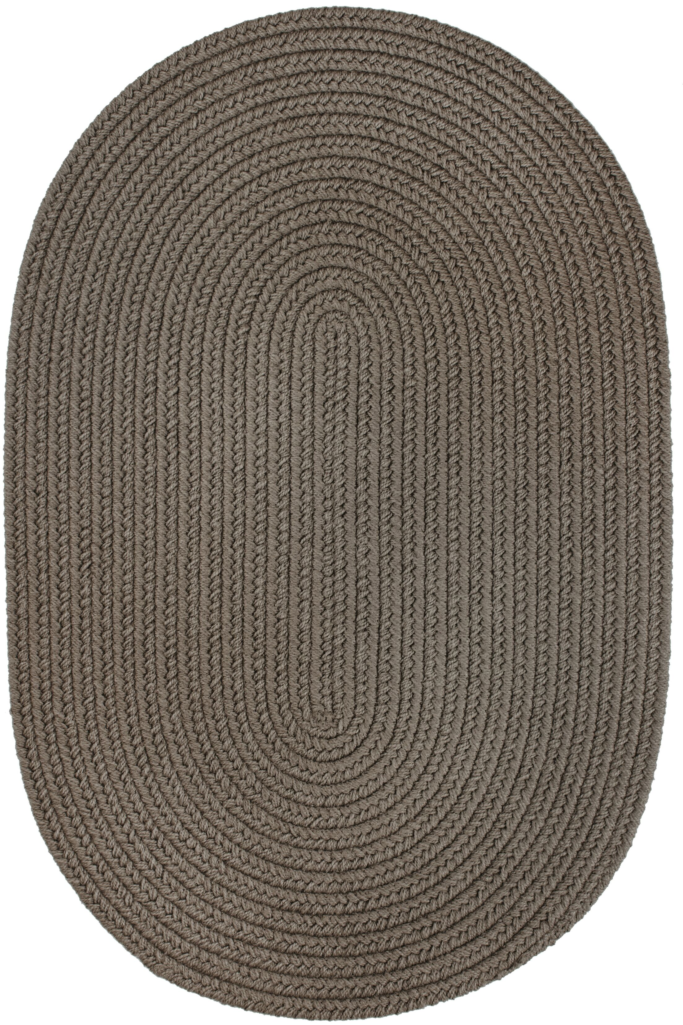 Handmade Gray Indoor/Outdoor Area Rug Rug Size: Oval 8' x 11'