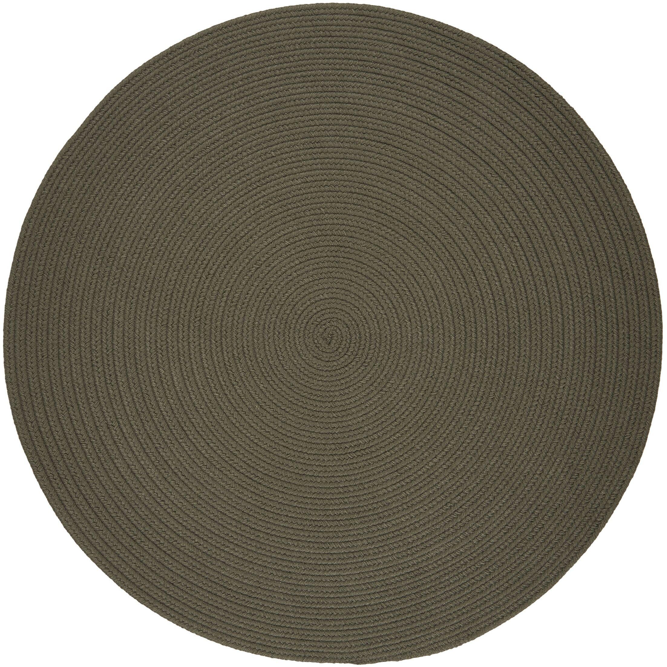 Handmade Gray Indoor/Outdoor Area Rug Rug Size: Round 6'