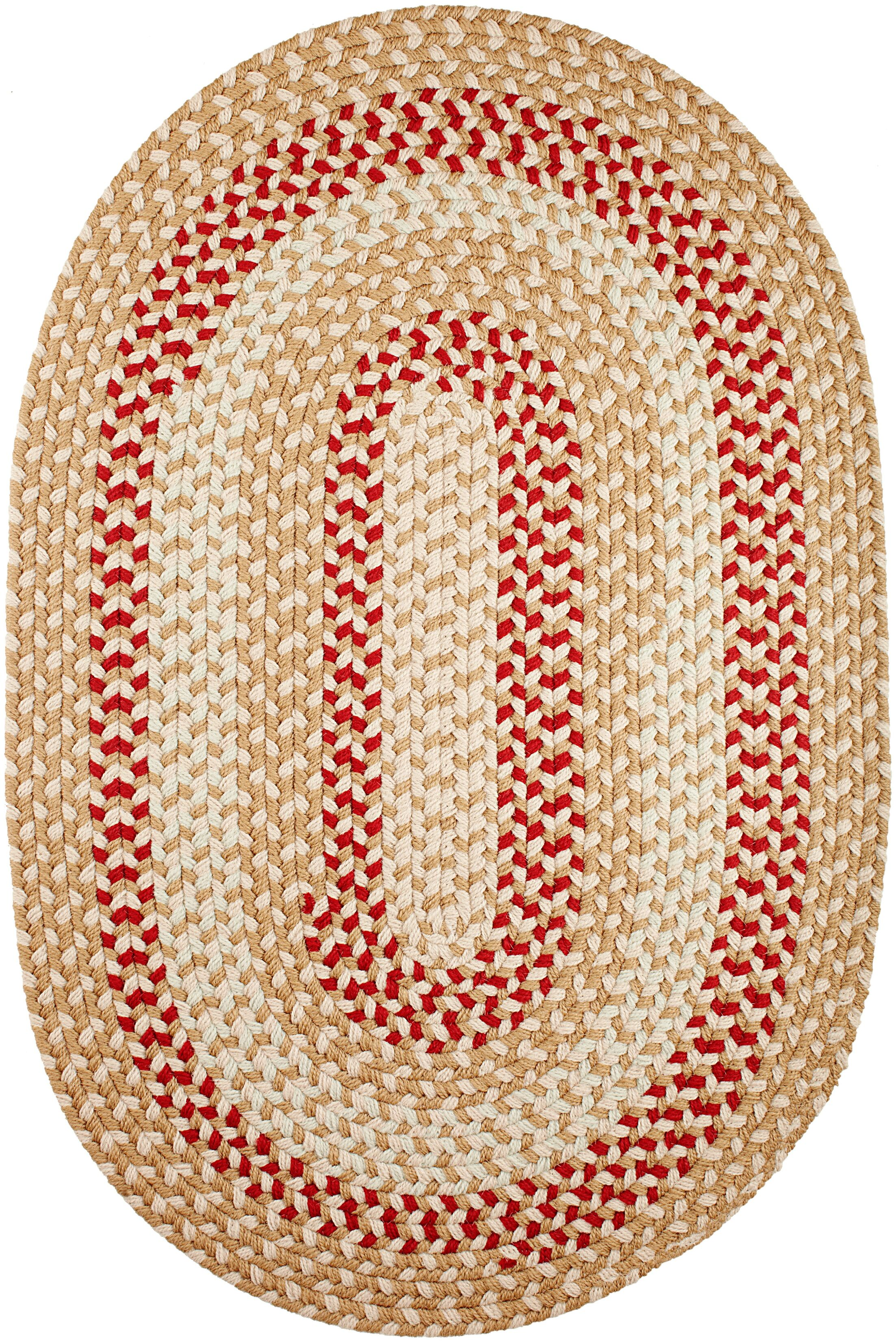 Handmade Natural Indoor/Outdoor Rug Rug Size: Oval 3' x 5'