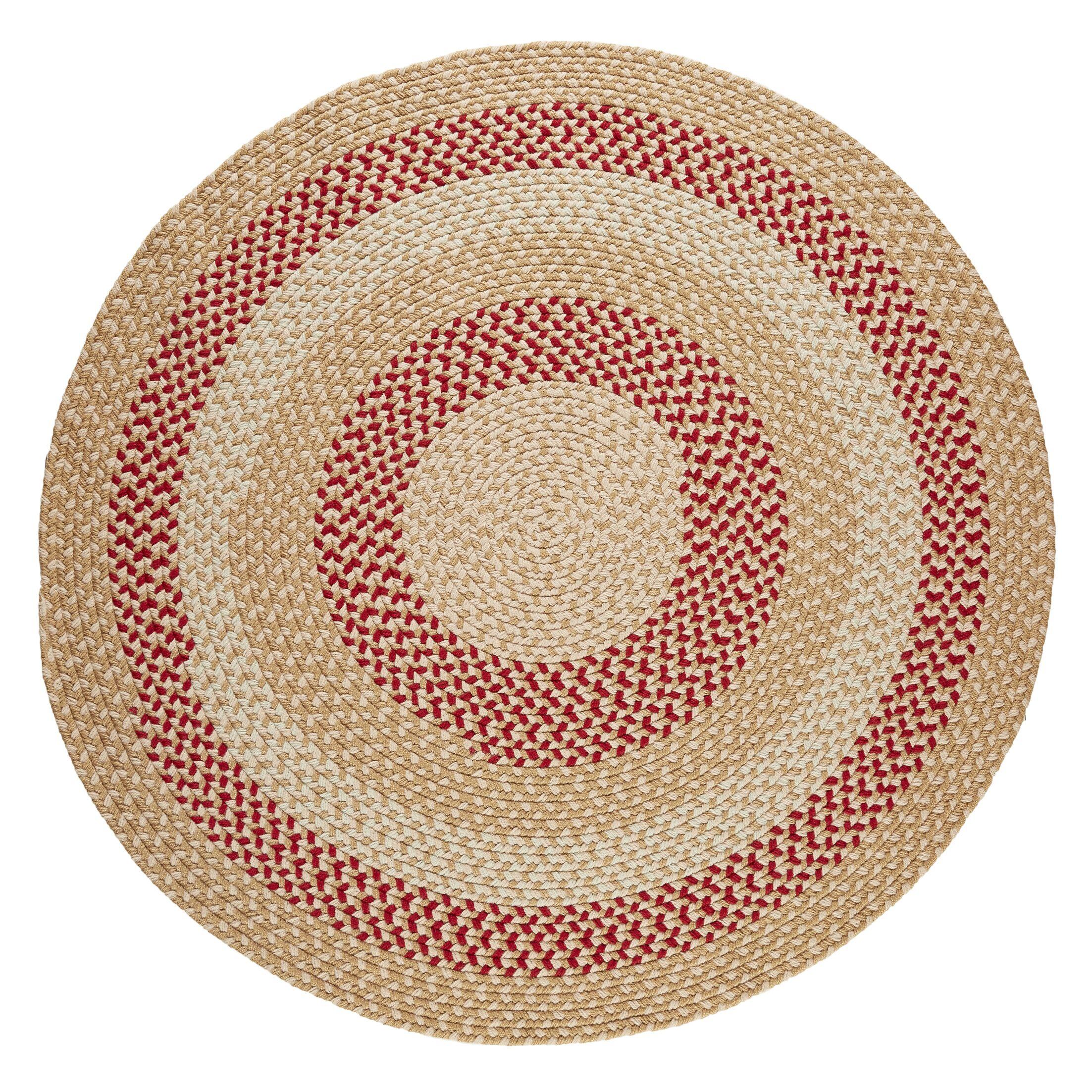 Handmade Natural Indoor/Outdoor Rug Rug Size: Round 4'
