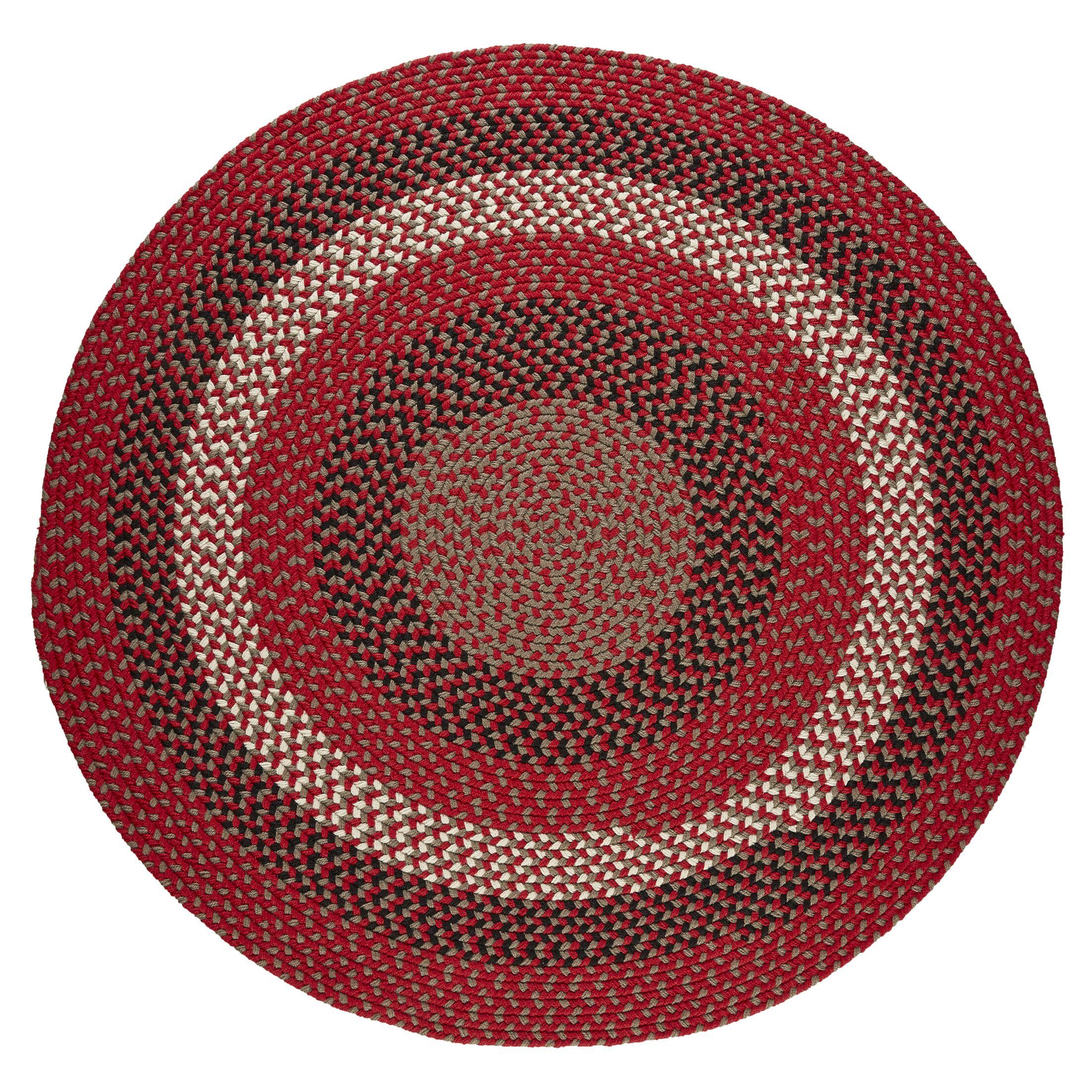 Handmade Red Brick Indoor/Outdoor Area Rug Rug Size: Round 8'