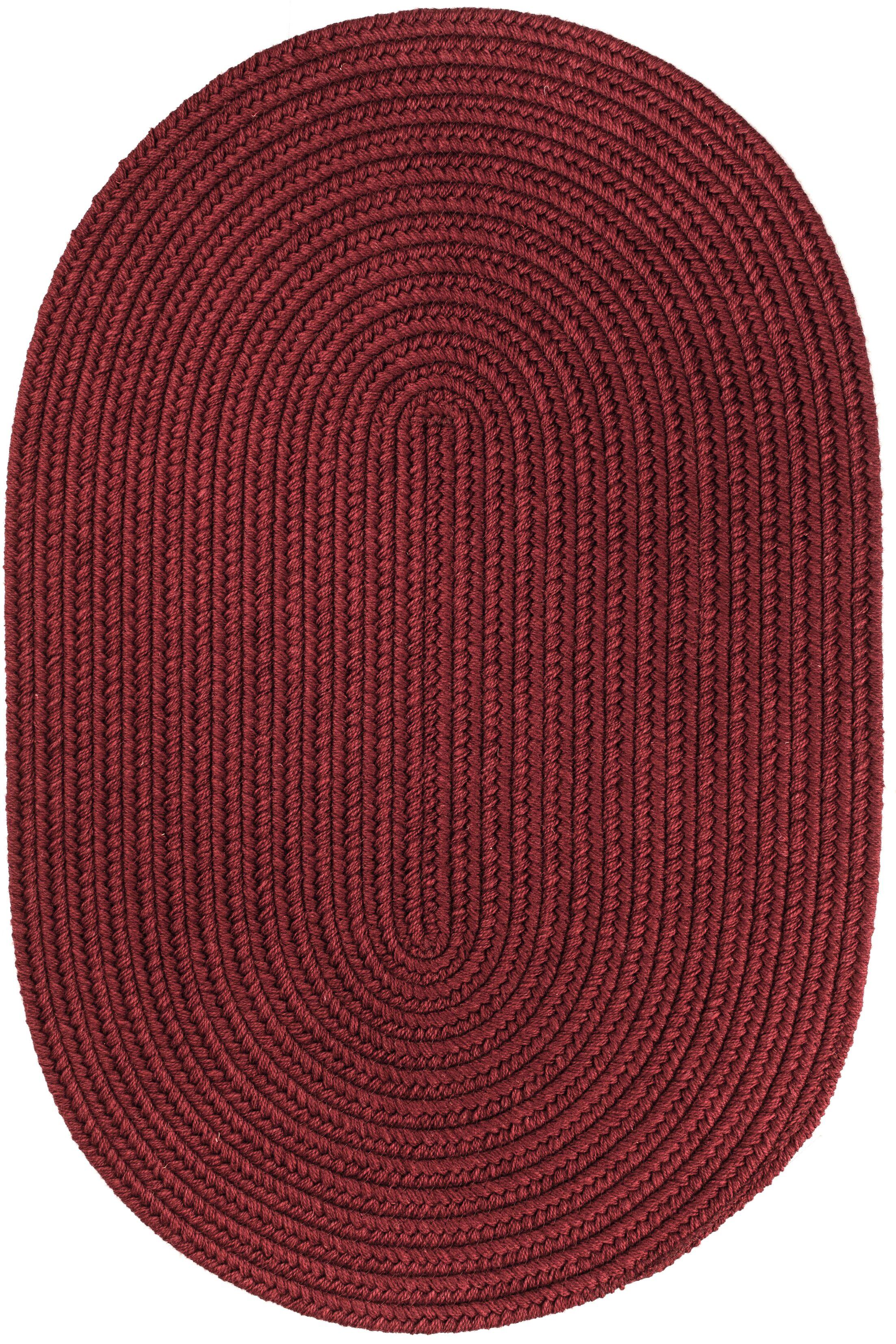Handmade Red Wine Area Rug Rug Size: Oval 4' x 6'