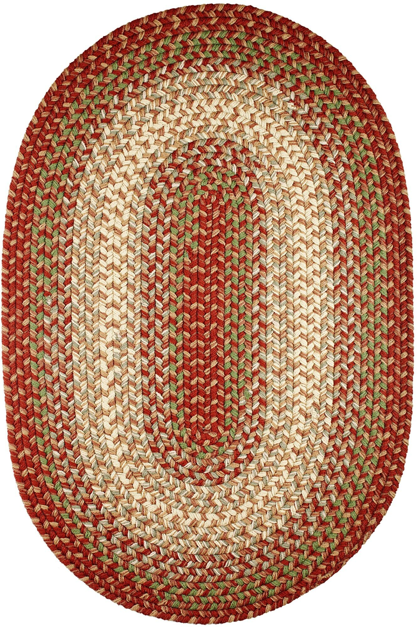 Handmade Indoor/Outdoor Area Rug Rug Size: Oval 2' x 4'