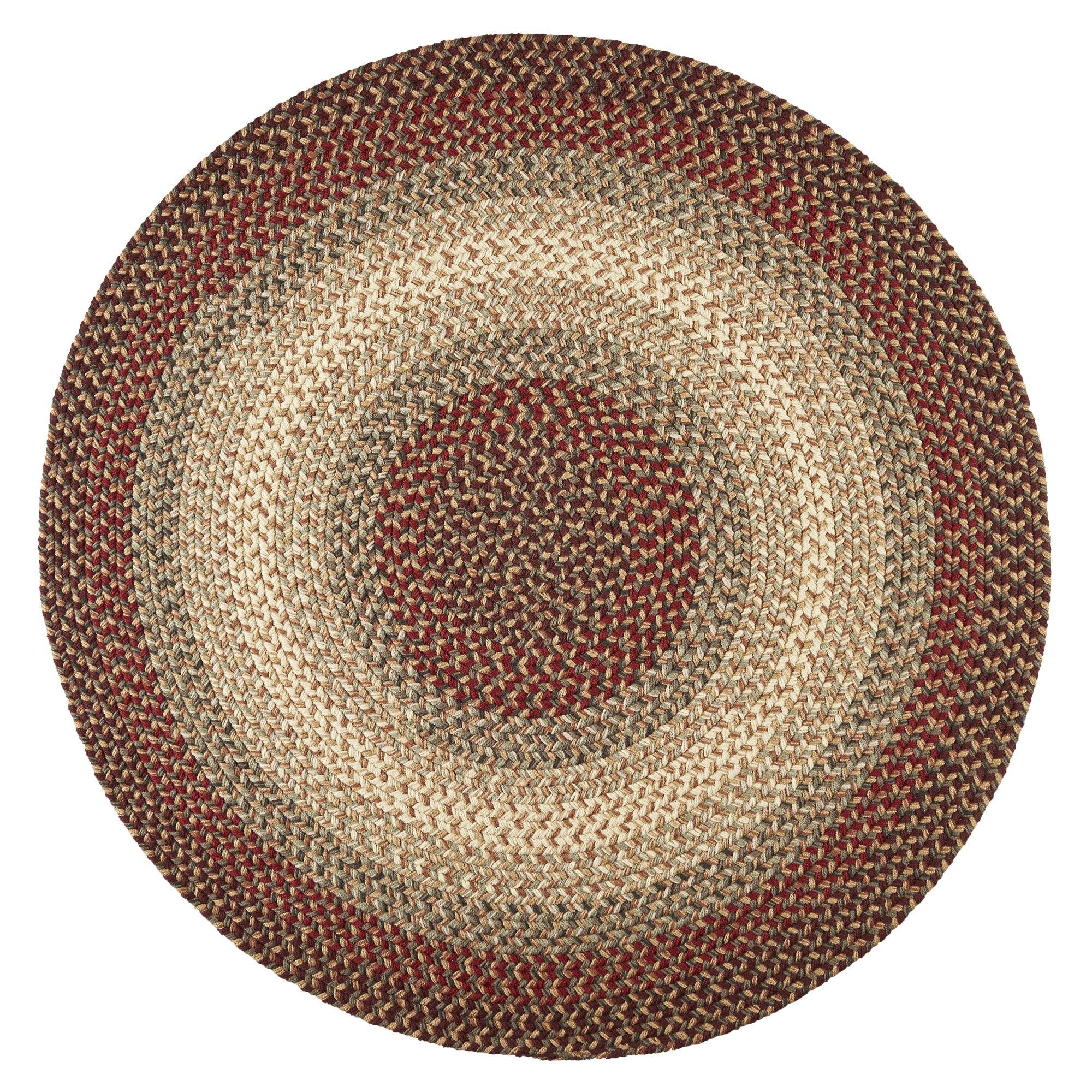 Handmade Indoor/Outdoor Area Rug Rug Size: Round 6'