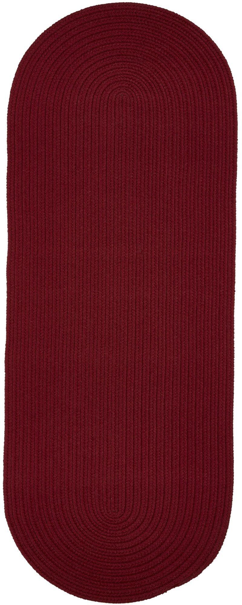 Handmade Colonial Red Indoor/Outdoor Area Rug Rug Size: Runner 2' x 6'