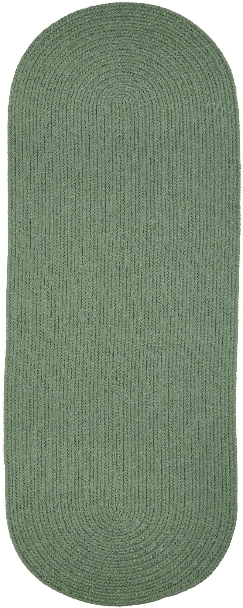 Handmade Green Indoor/Outdoor Area Rug Rug Size: Oval  2' x 3'