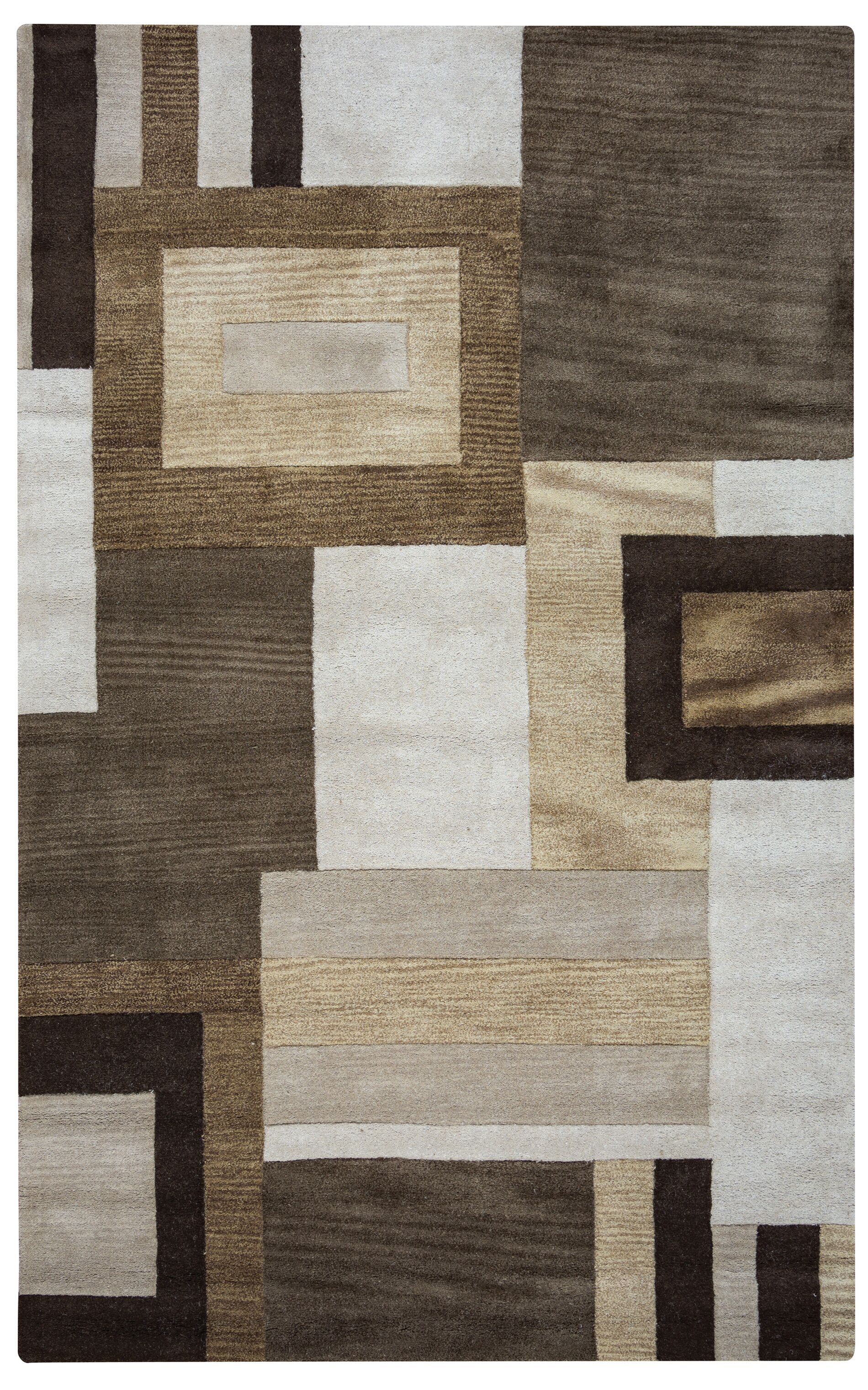 Hand-Tufted Area Rug Rug Size: Rectangle 3' x 5'
