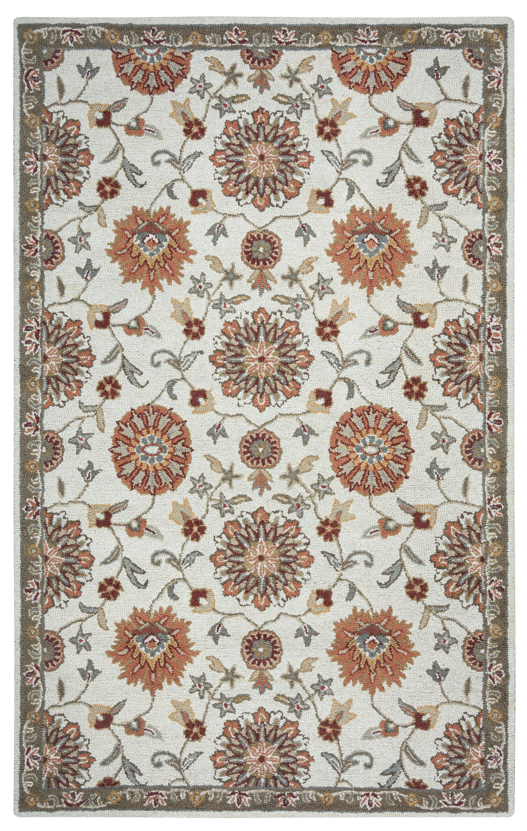 Hand-Tufted Beige Area Rug Rug Size: Rectangle 9' x 12'