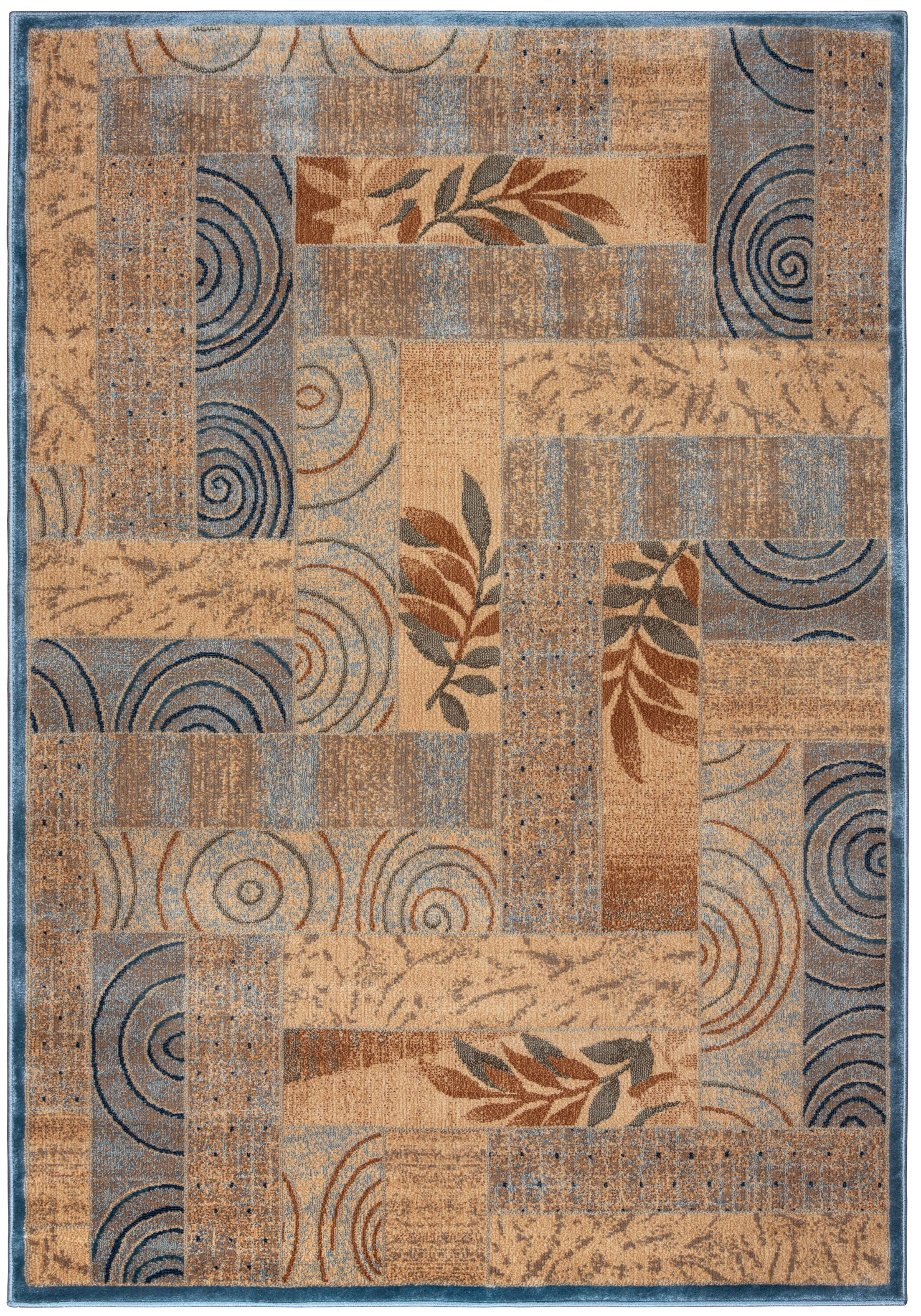 Beige/Blue Area Rug Rug Size: Rectangle 9'10
