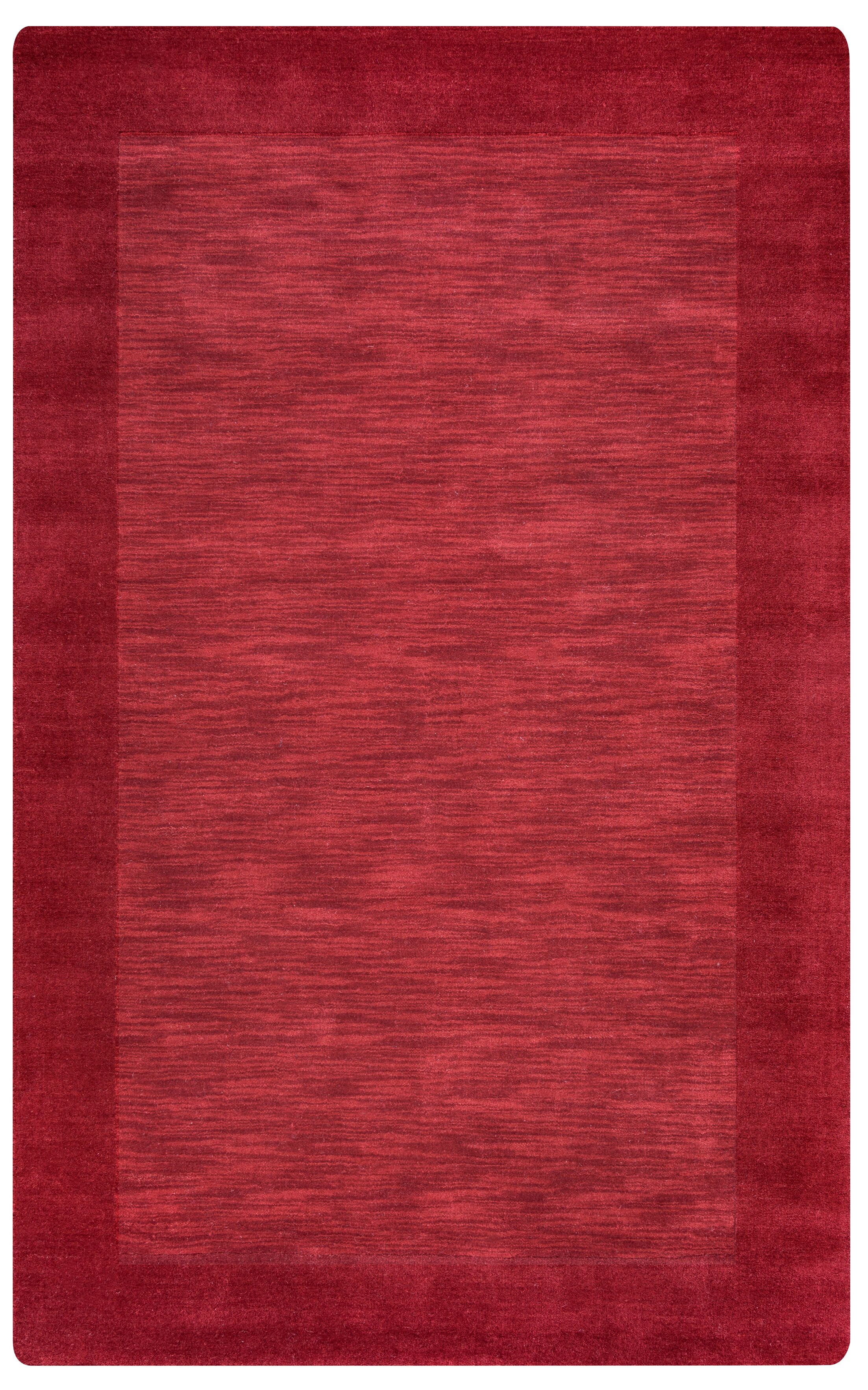 Hand-Woven Red Area Rug Rug Size: Rectangle 5' x 8'