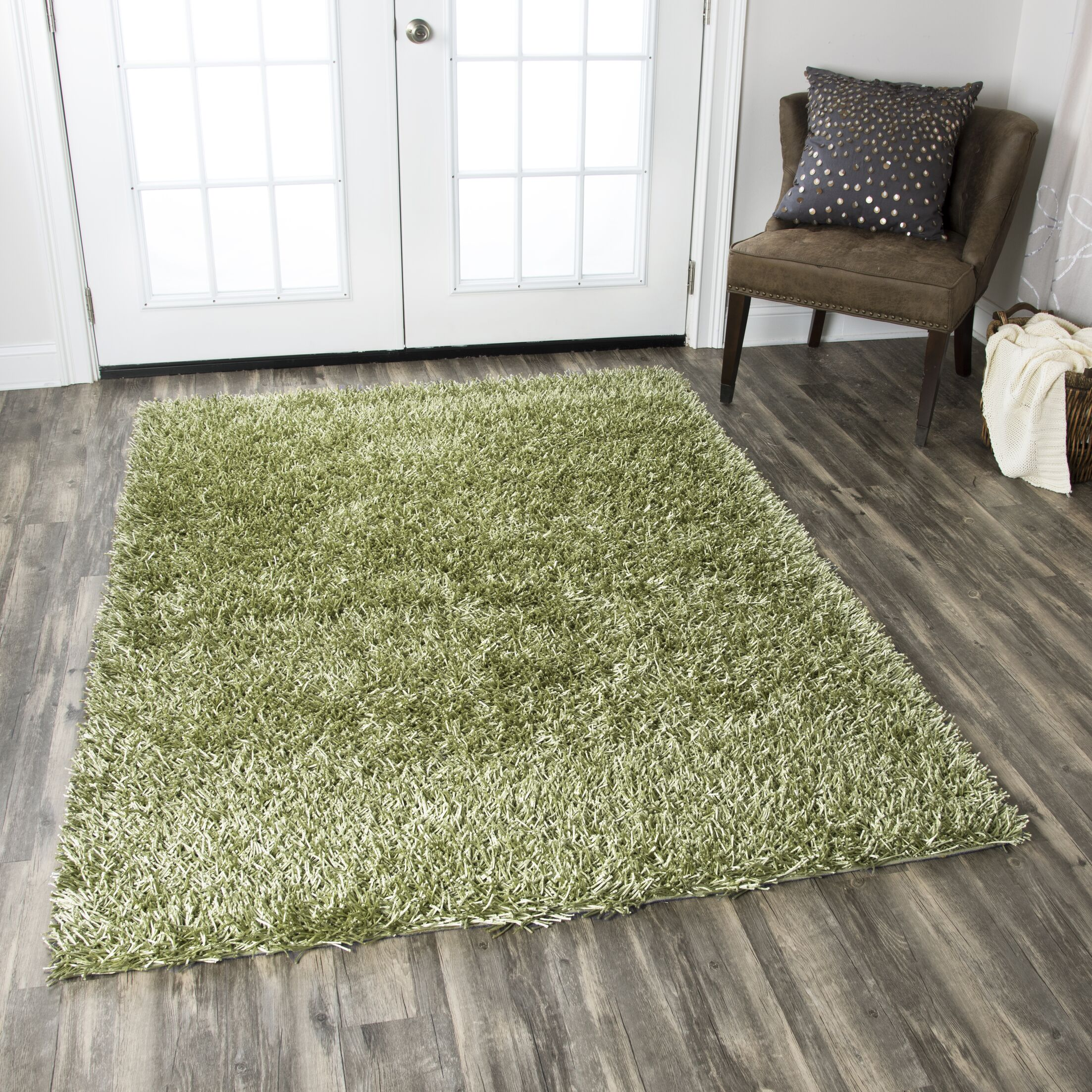 Kempton Handmade Lime Area Rug Rug Size: Rectangle 8' x 10'
