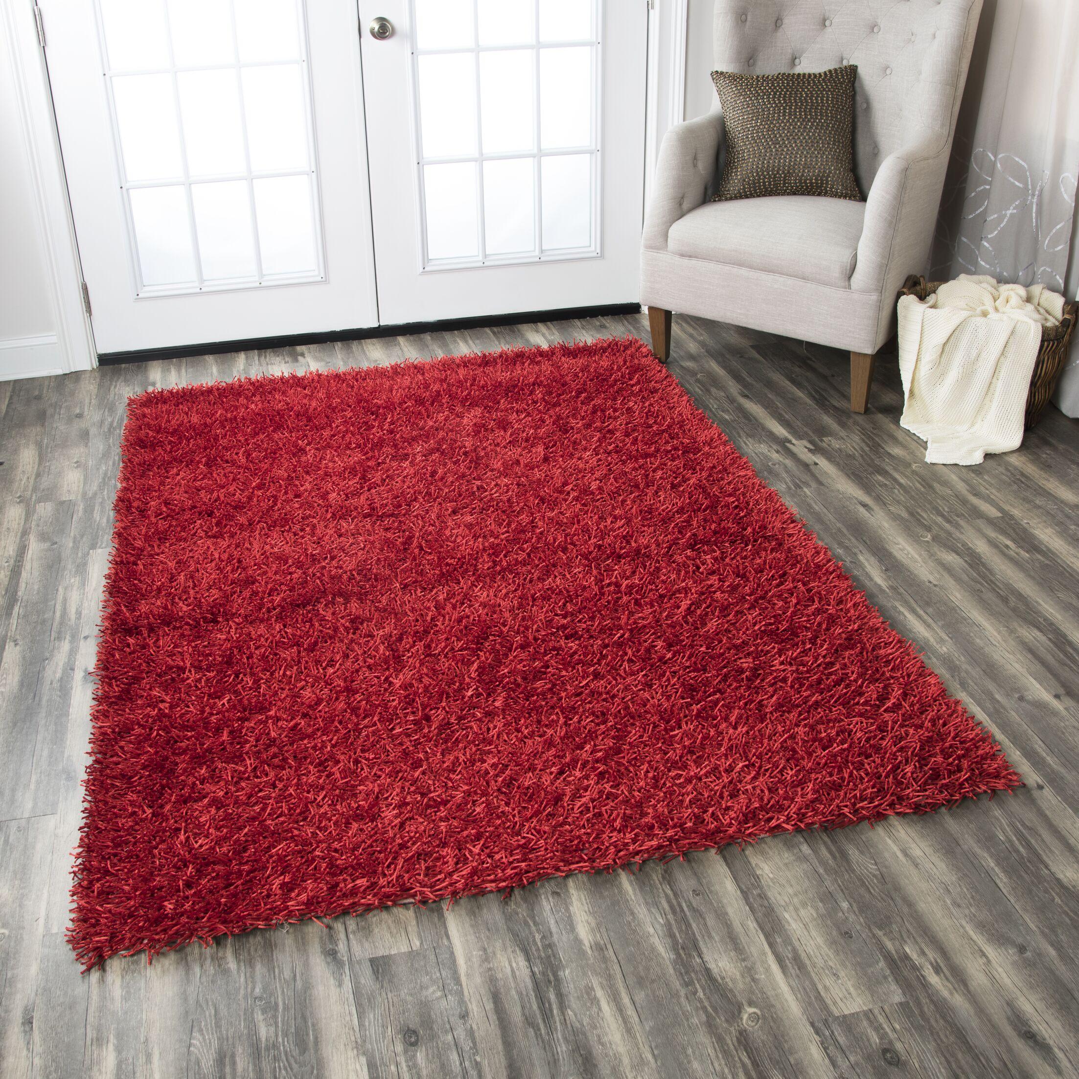 Kiera Handmade Red Area Rug Rug Size: Rectangle 6' x 9'