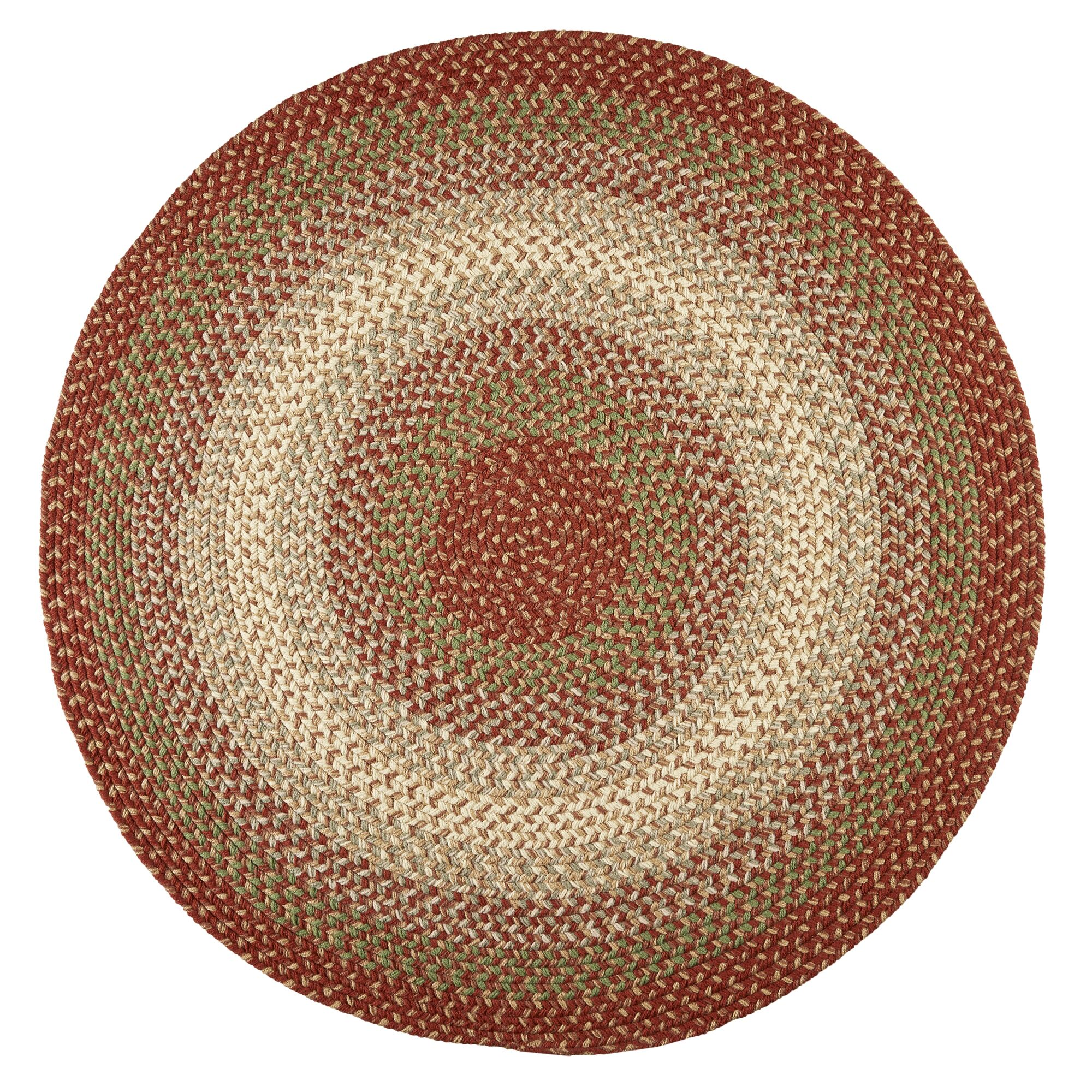 Handmade Indoor/Outdoor Area Rug Rug Size: Round 4'