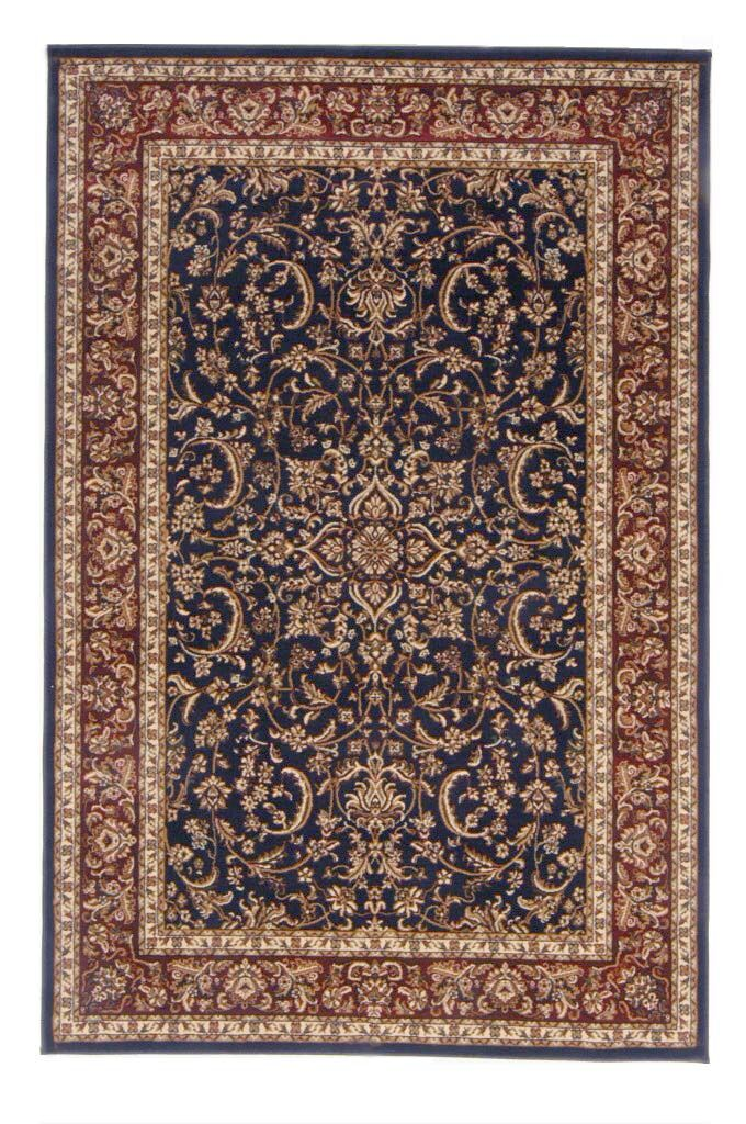 Jennings Navy/Red Area Rug Rug Size: Rectangle 7'9