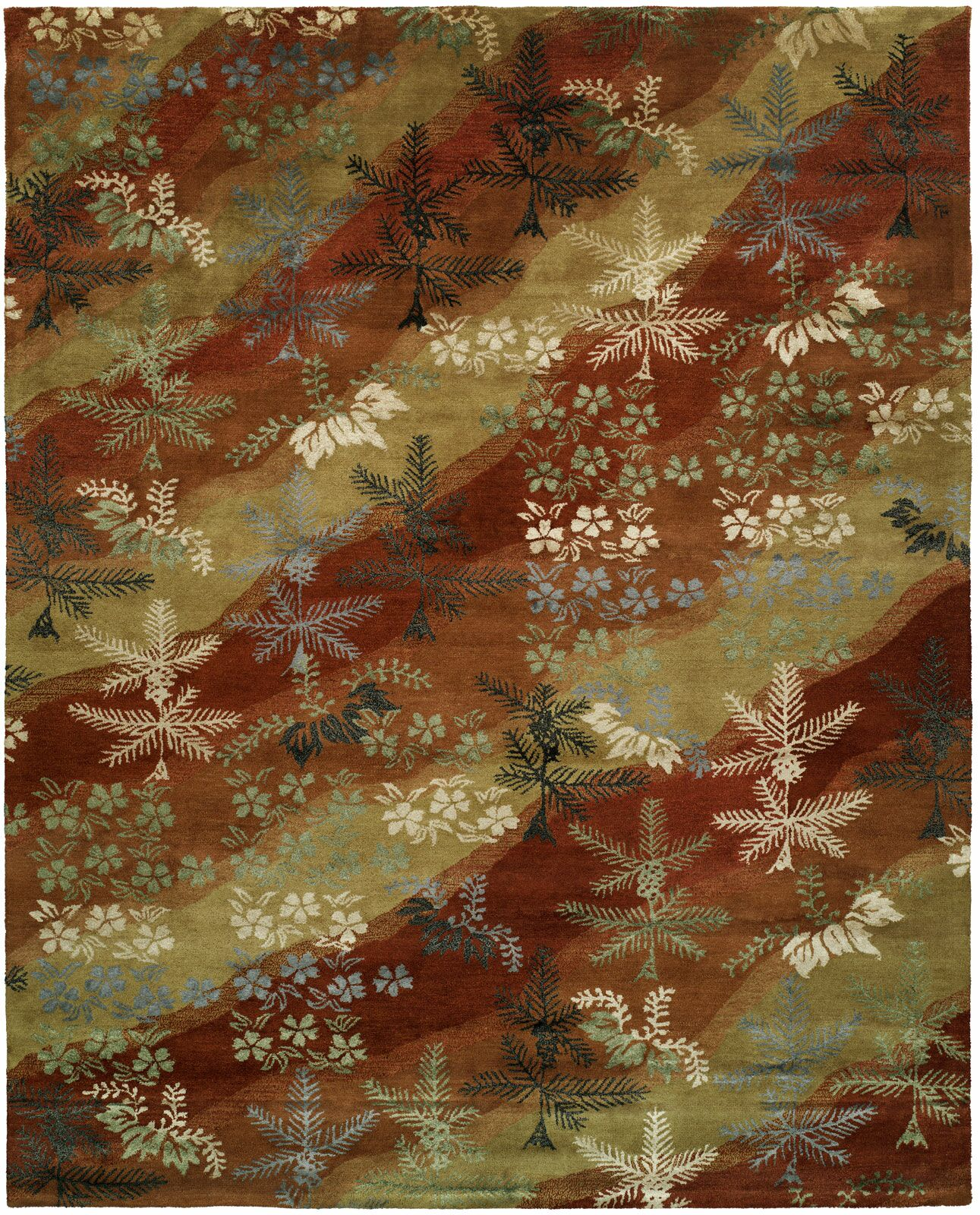 Dhuri Hand-Tufted Scarlet/Sand Area Rug Rug Size: Rectangle 3'6