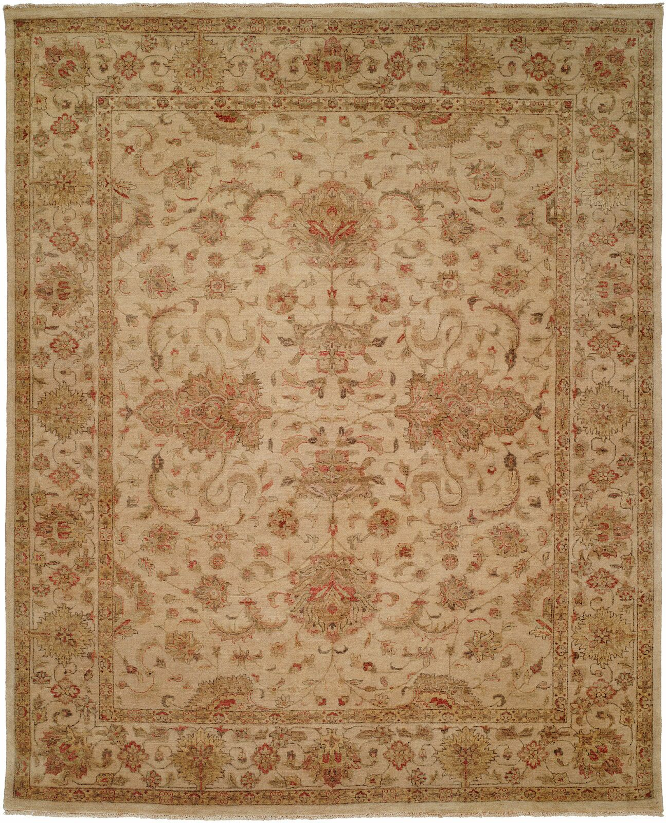Gurdaspur Hand-Knotted Earth Tones Area Rug Rug Size: Rectangle 4' x 6'