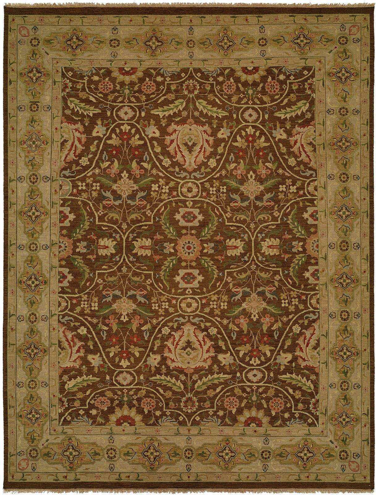 Dumka Hand-Knotted Fall Sienna Area Rug Rug Size: Rectangle 10' x 14'