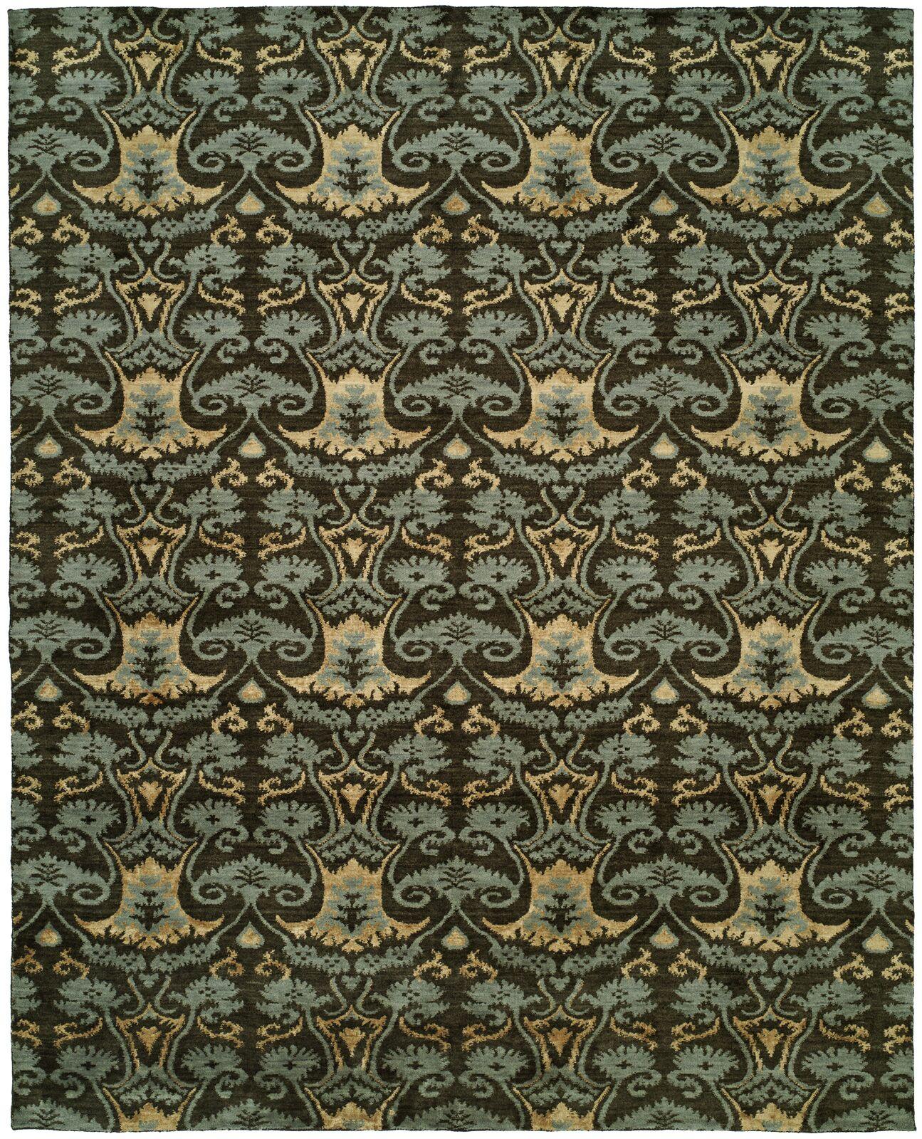 Dumraon Handmade Smokey Brown Area Rug Rug Size: Rectangle 6' x 9'
