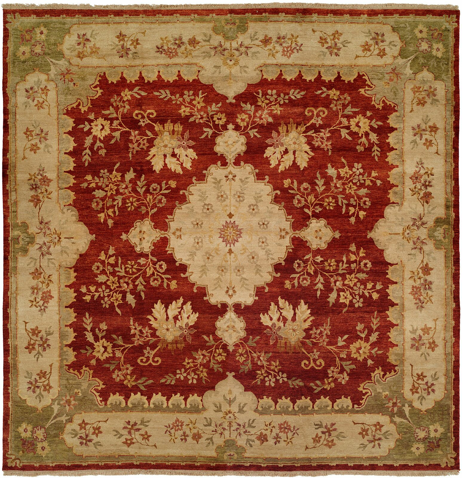 Dumka Hand-Knotted Rose Chenille Area Rug Rug Size: 9' x 12'