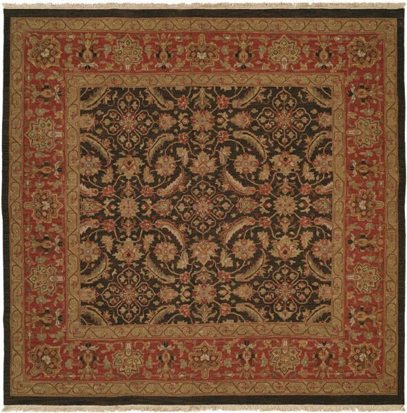 Forbesganj Hand-Knotted Blue / Rose Area Rug Rug Size: Rectangle 3' x 5'
