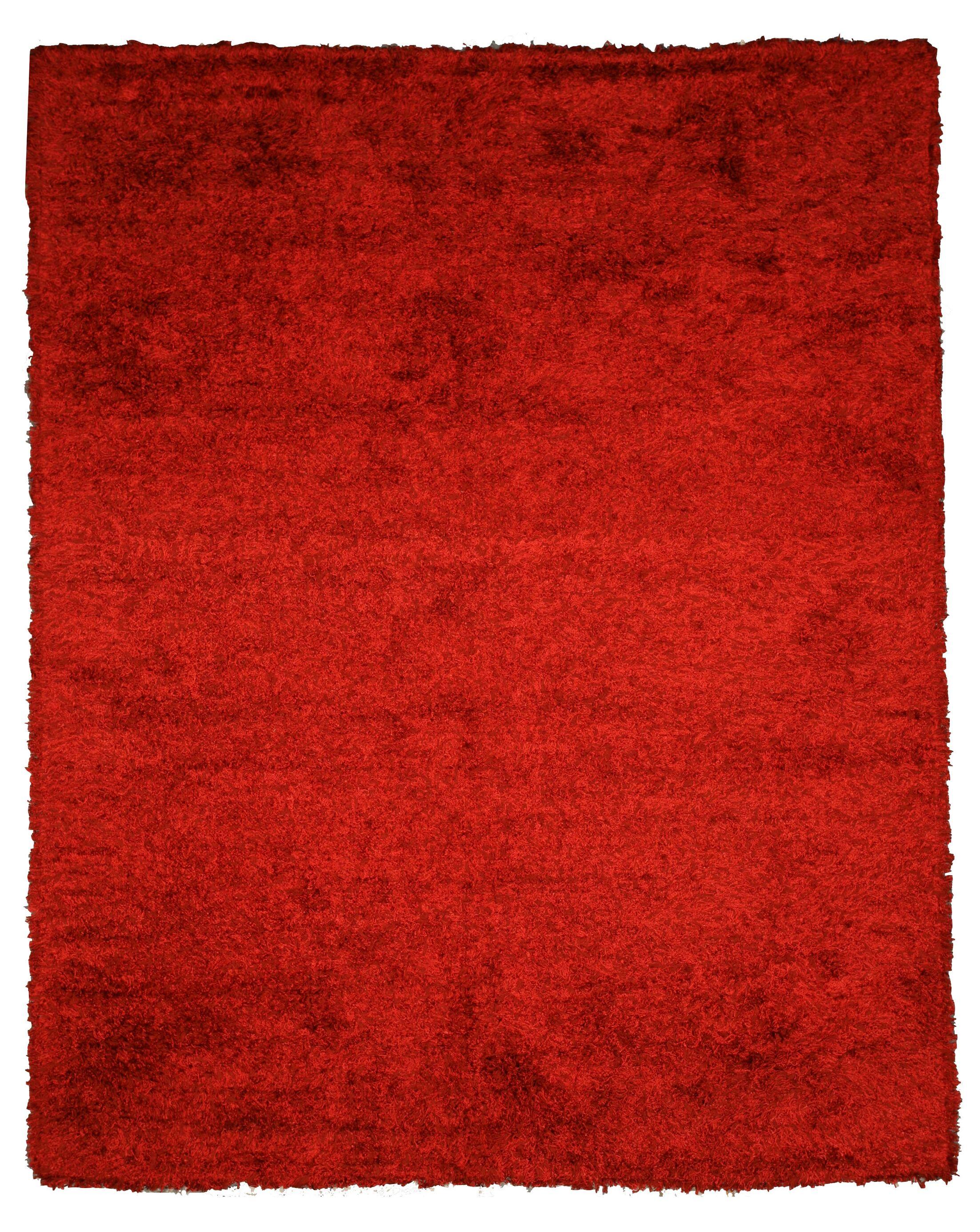 Jalandhar Hand-Woven Red Area Rug Rug Size: Rectangle 8' x 10'