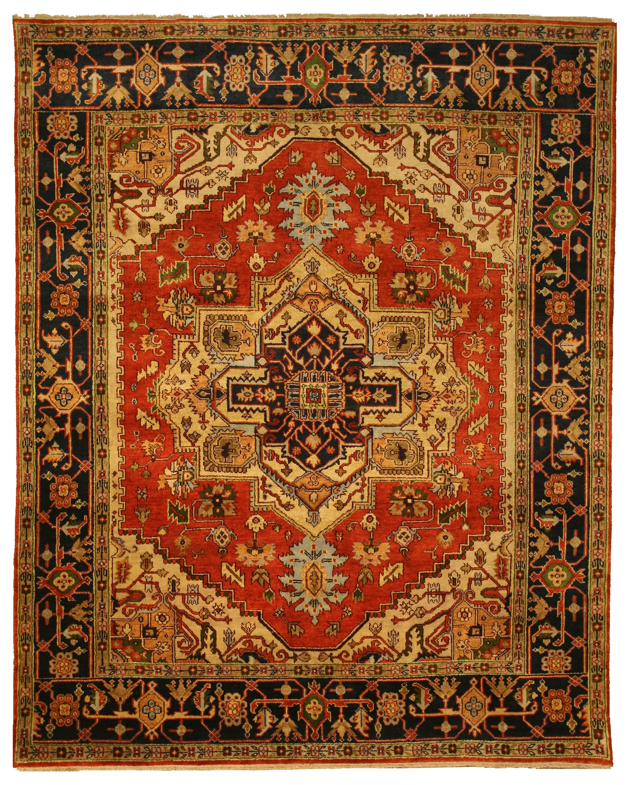 Hand-Knotted Red Area Rug Rug Size: Rectangle 4' x 6'